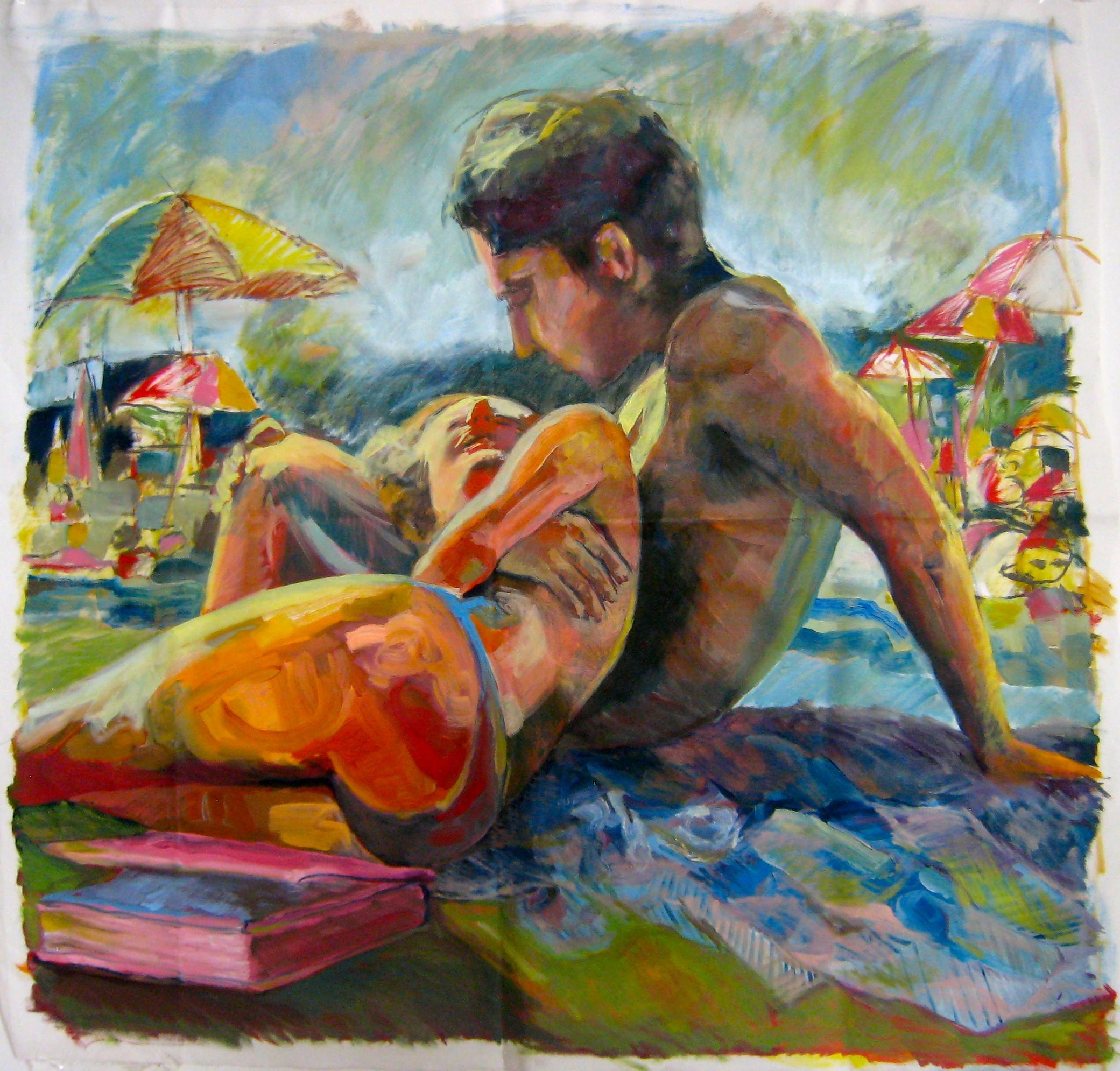 Caroline Absher, oil on canvas, 2014