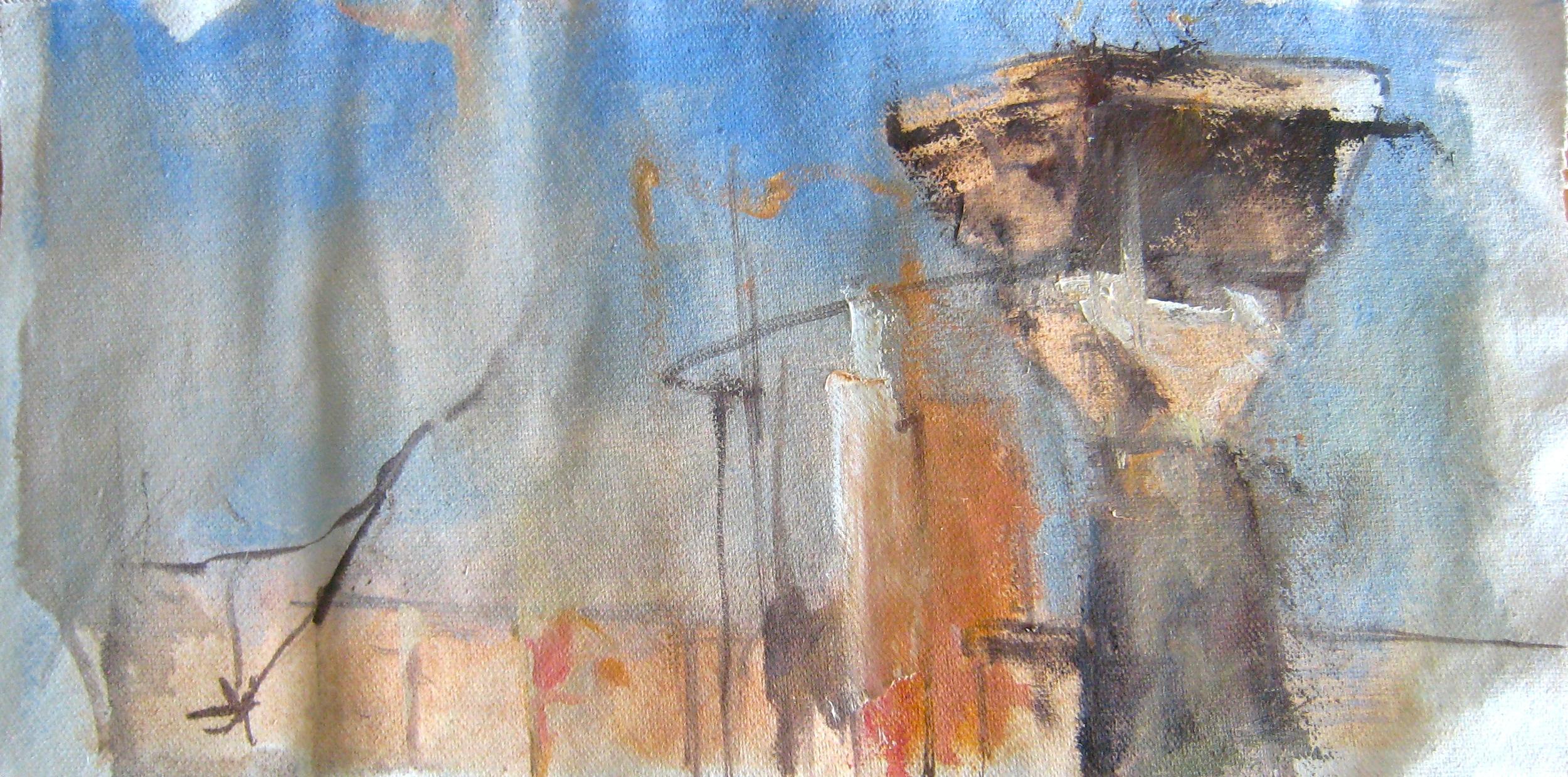 Yasmina Huckins, oil on canvas, 2014