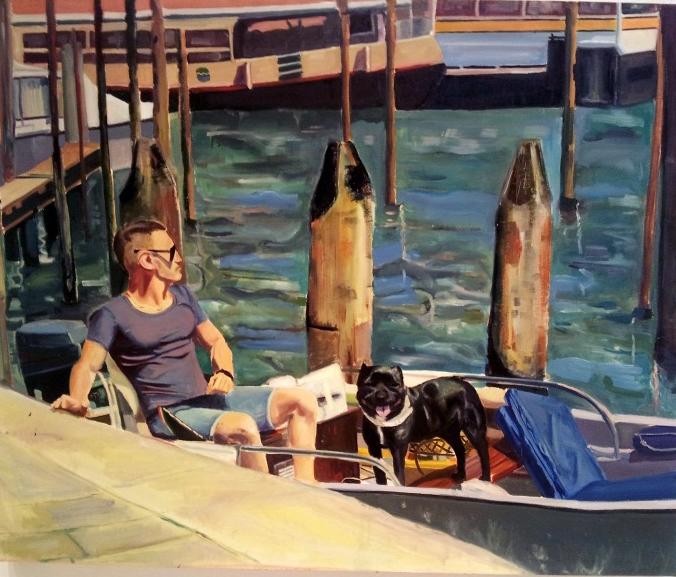 Kaitlin Mazzei, Rush Hour , oil on canvas, 2012