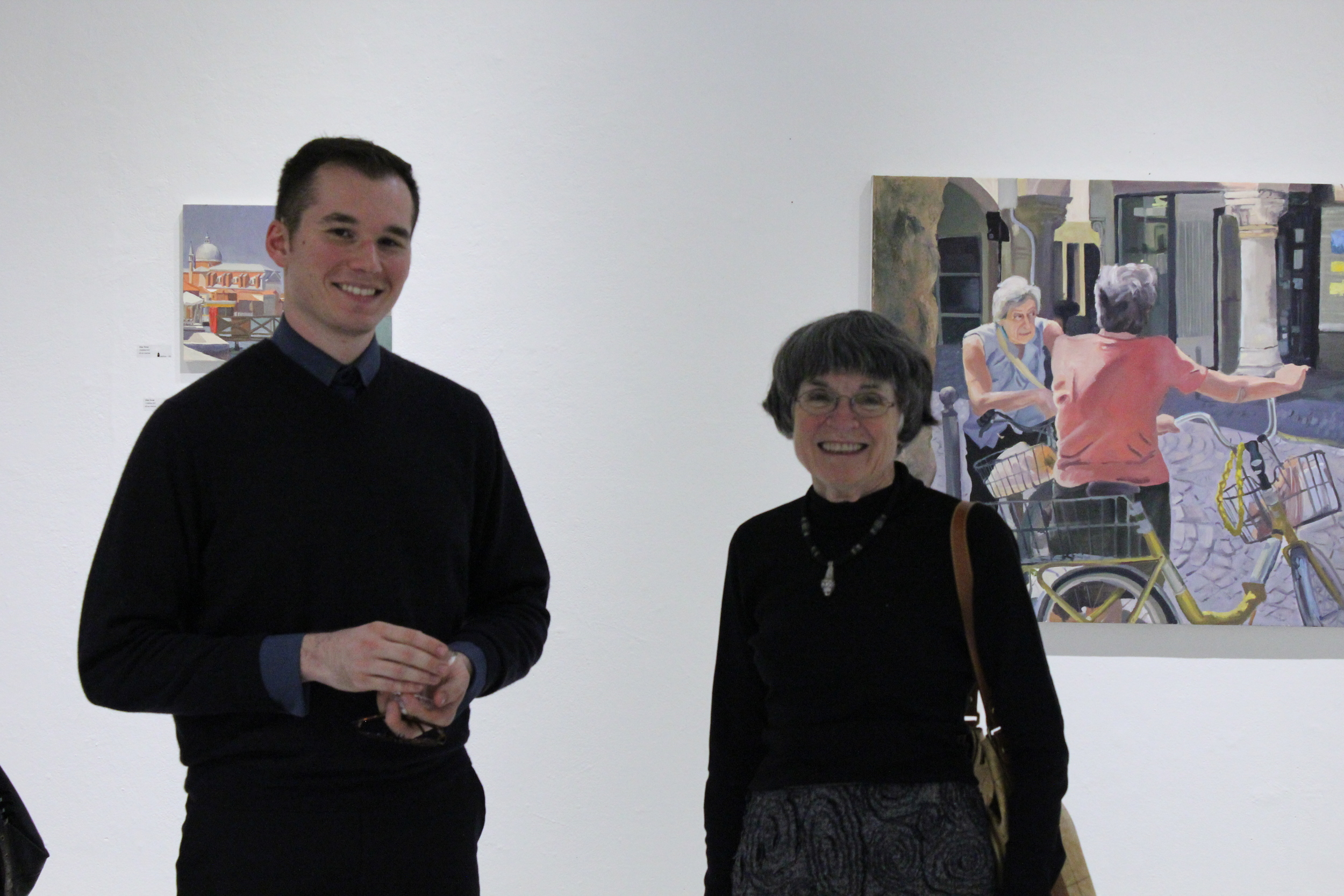 Art history faculty/staff Joseph Kopta and Dorothy Shepard at the 2012 Exhibition opening.