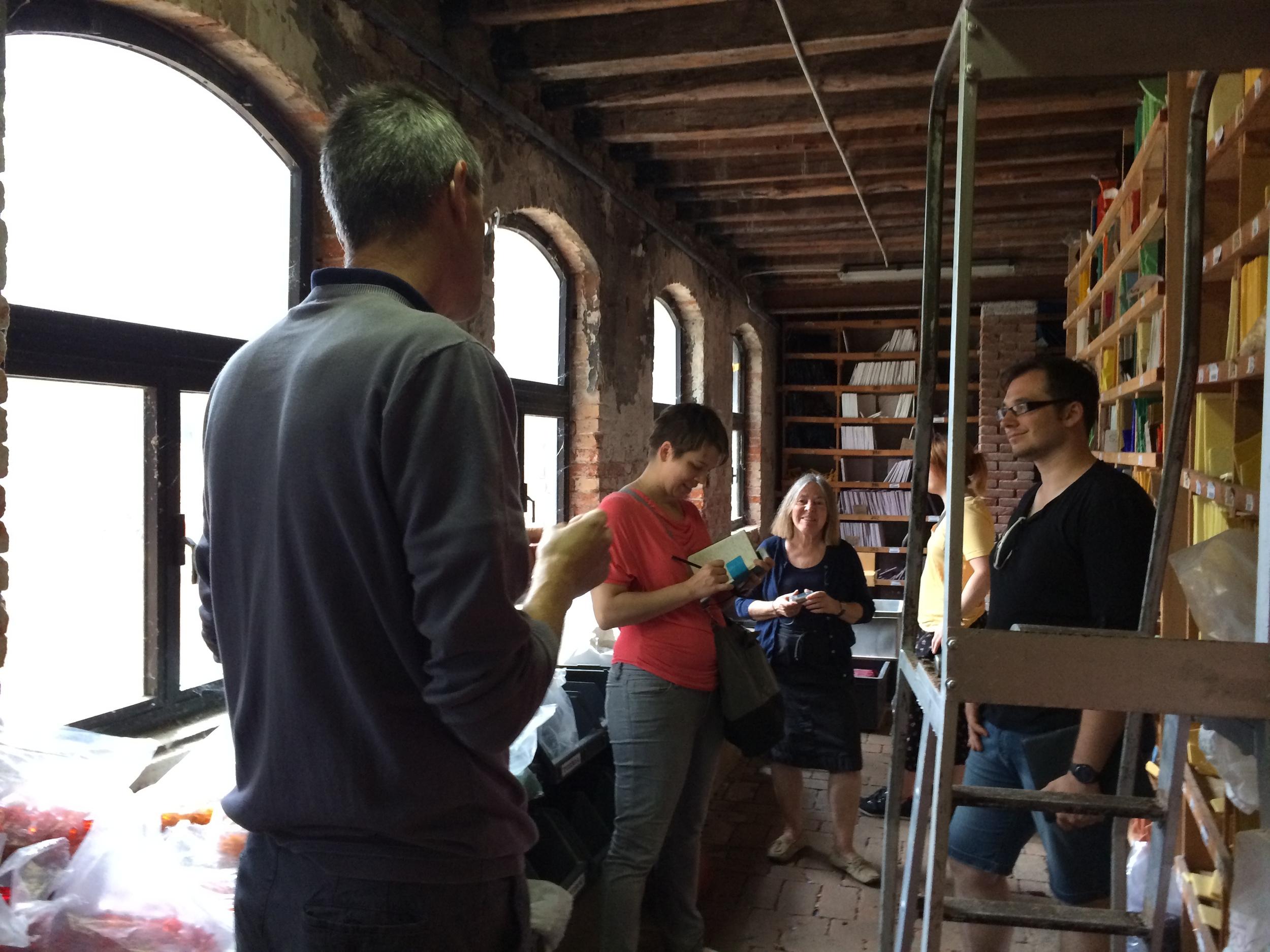Materials & Techniques class visiting the  biblioteca del colore atthe Fabbrica Orsoni