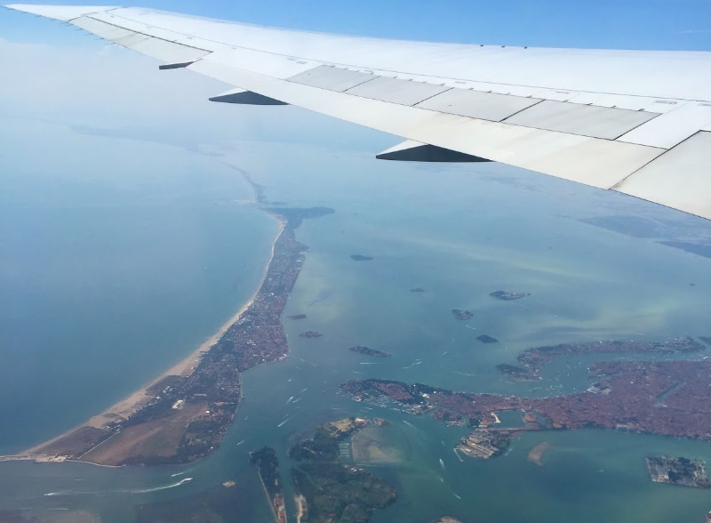 A view of the islands of the Venetian islands from the air. (photo: Polly Cancro)