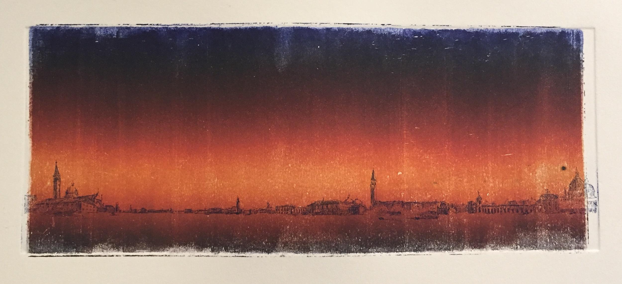 YIYI WANG Sunset etching, monoprint