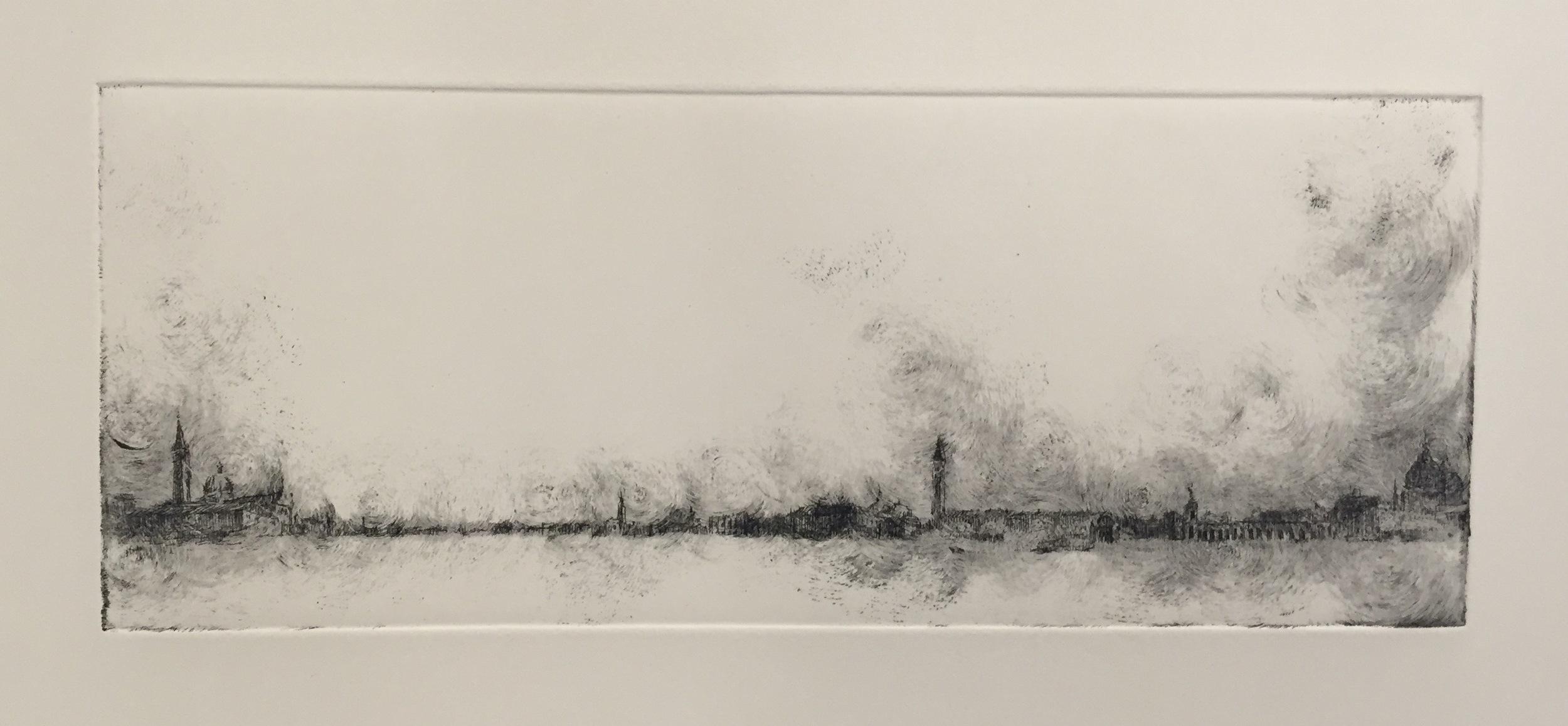 YIYI WANG   Venice in B&W 2   etching