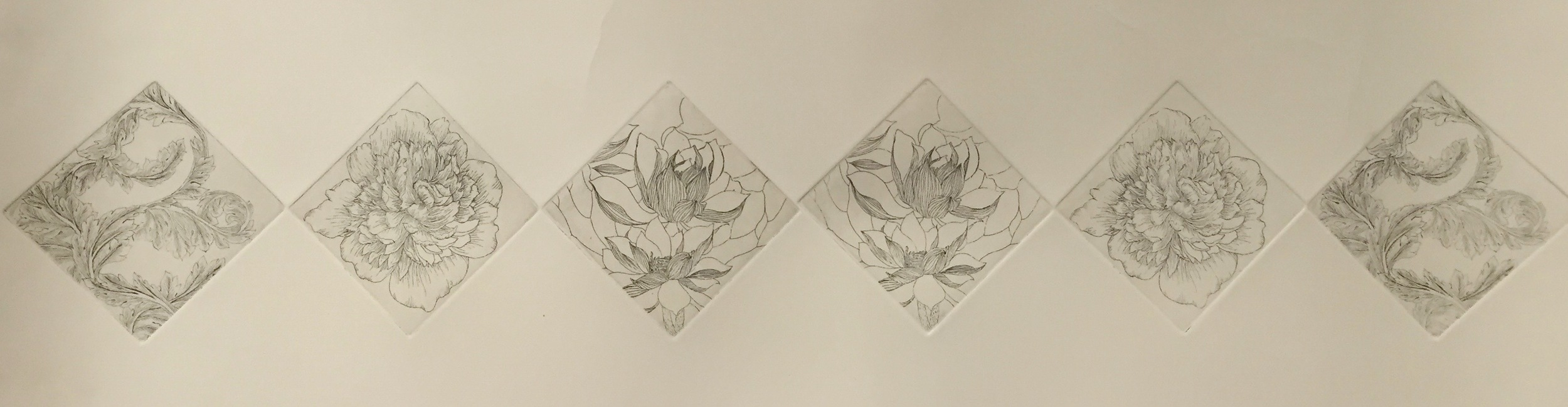 YIYI WANG   Plants in Black and White   etching