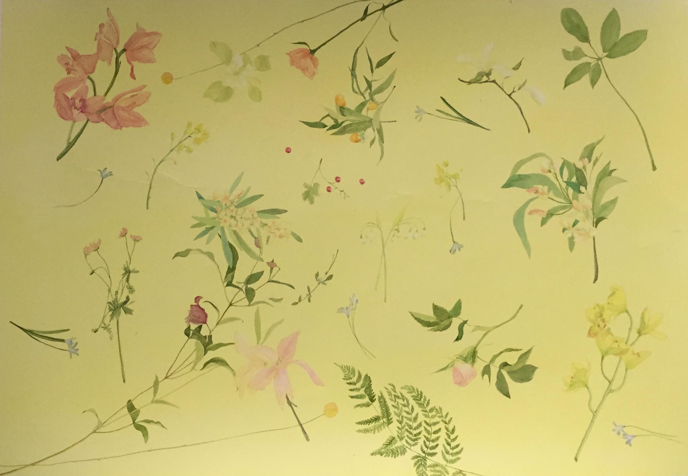 YIYI WANG   Watercolor plants   watercolor