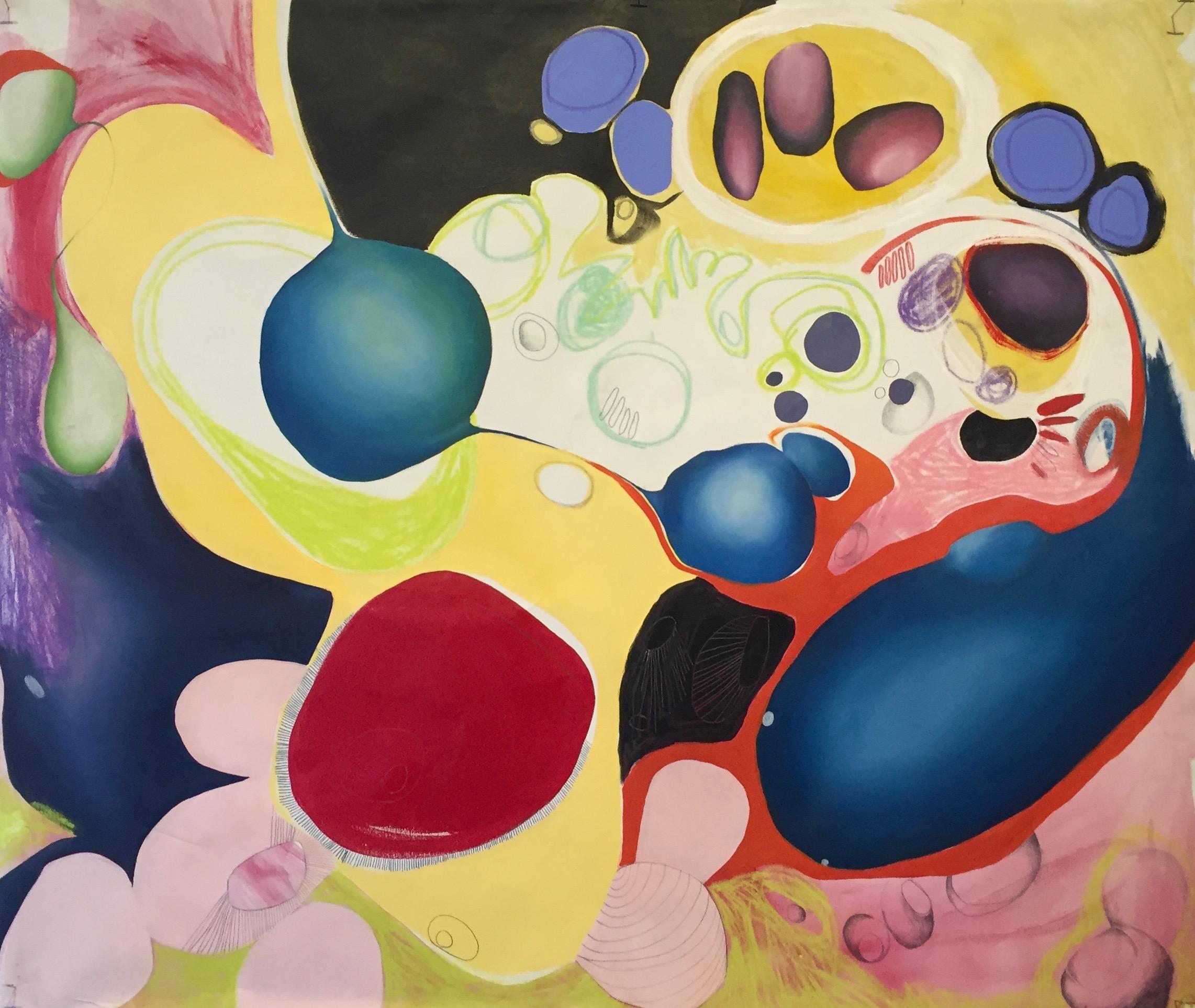 ANNISSA DUPAL   Genesis Series #2   acrylic, oil, soft pastel, charcoal, graphite on canvas
