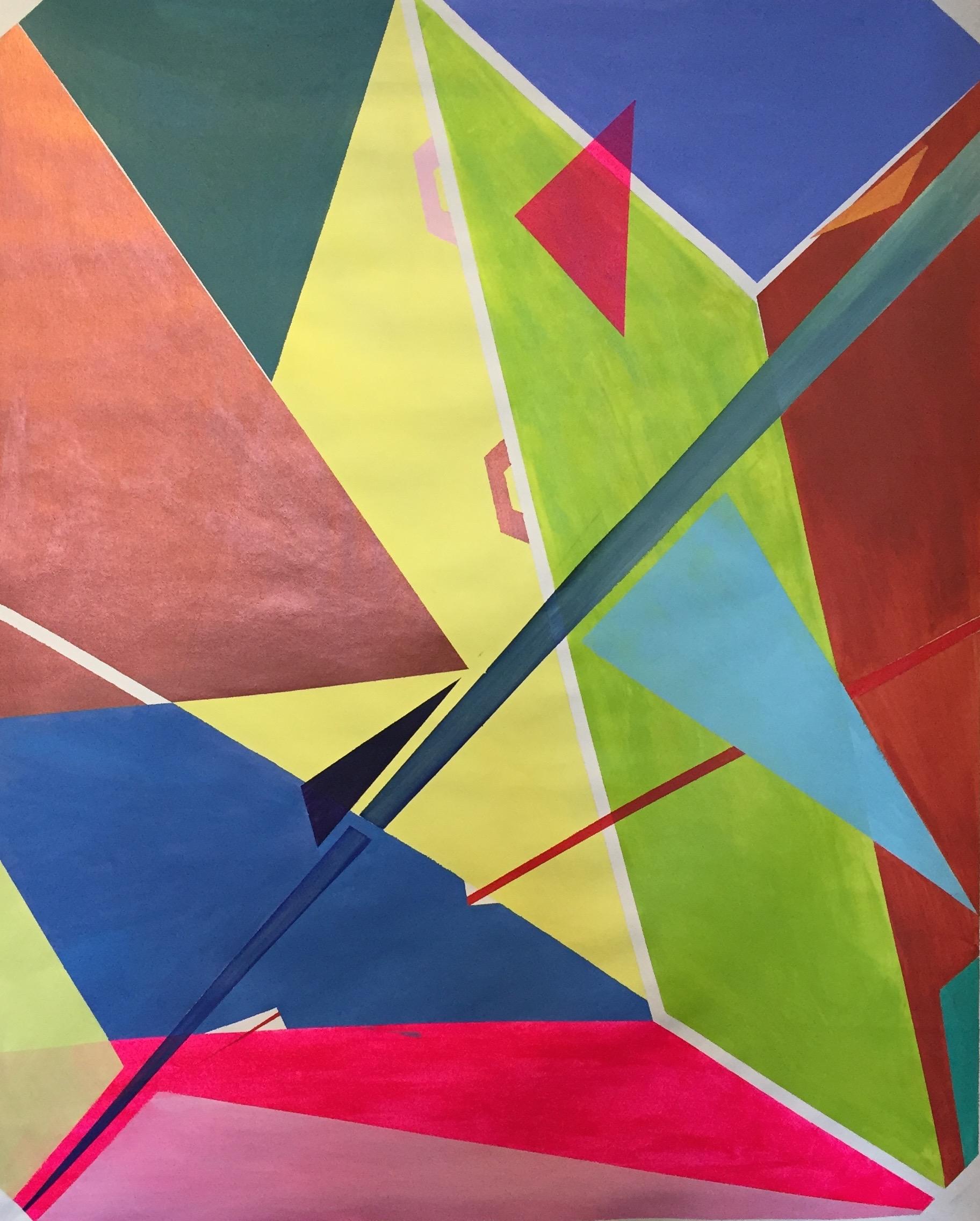 YAMATA BERNARD Gondola acrylic on canvas