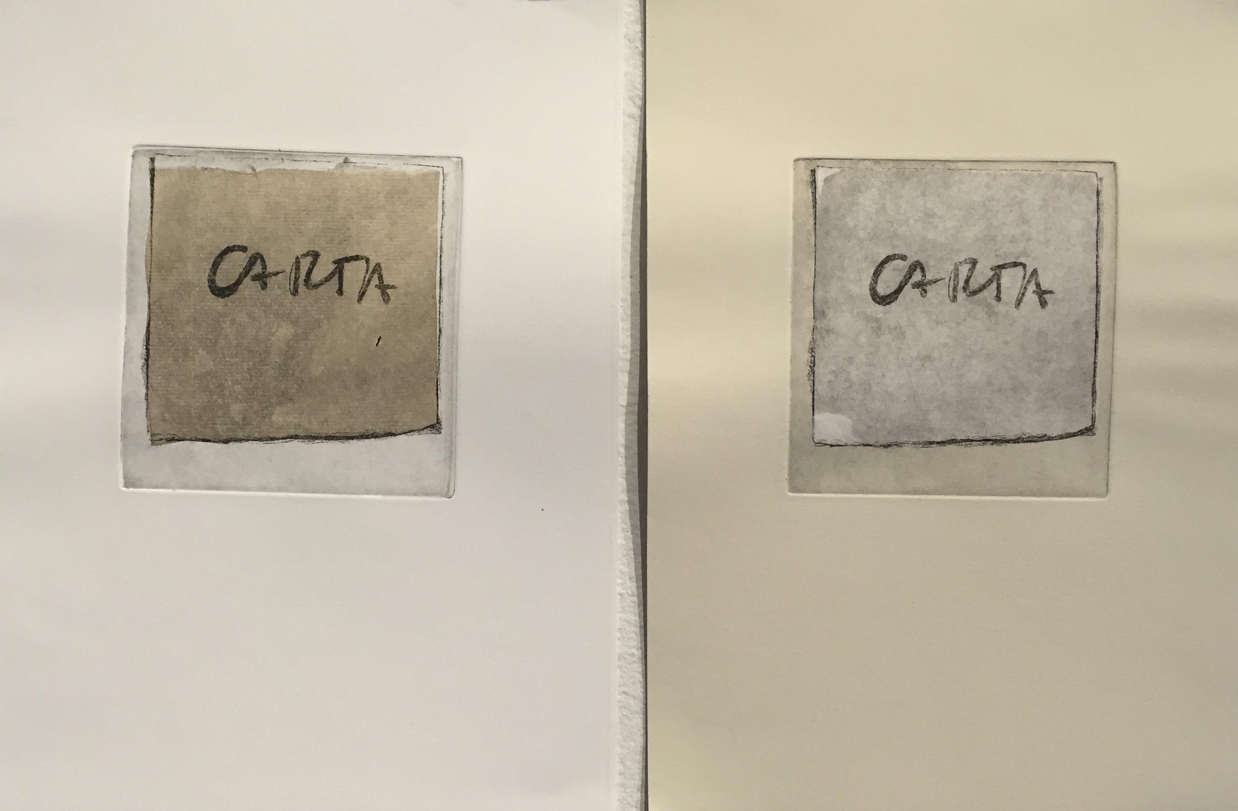 BRIANNE MCKAIN Artifact II (diptych) etching, chine-collé
