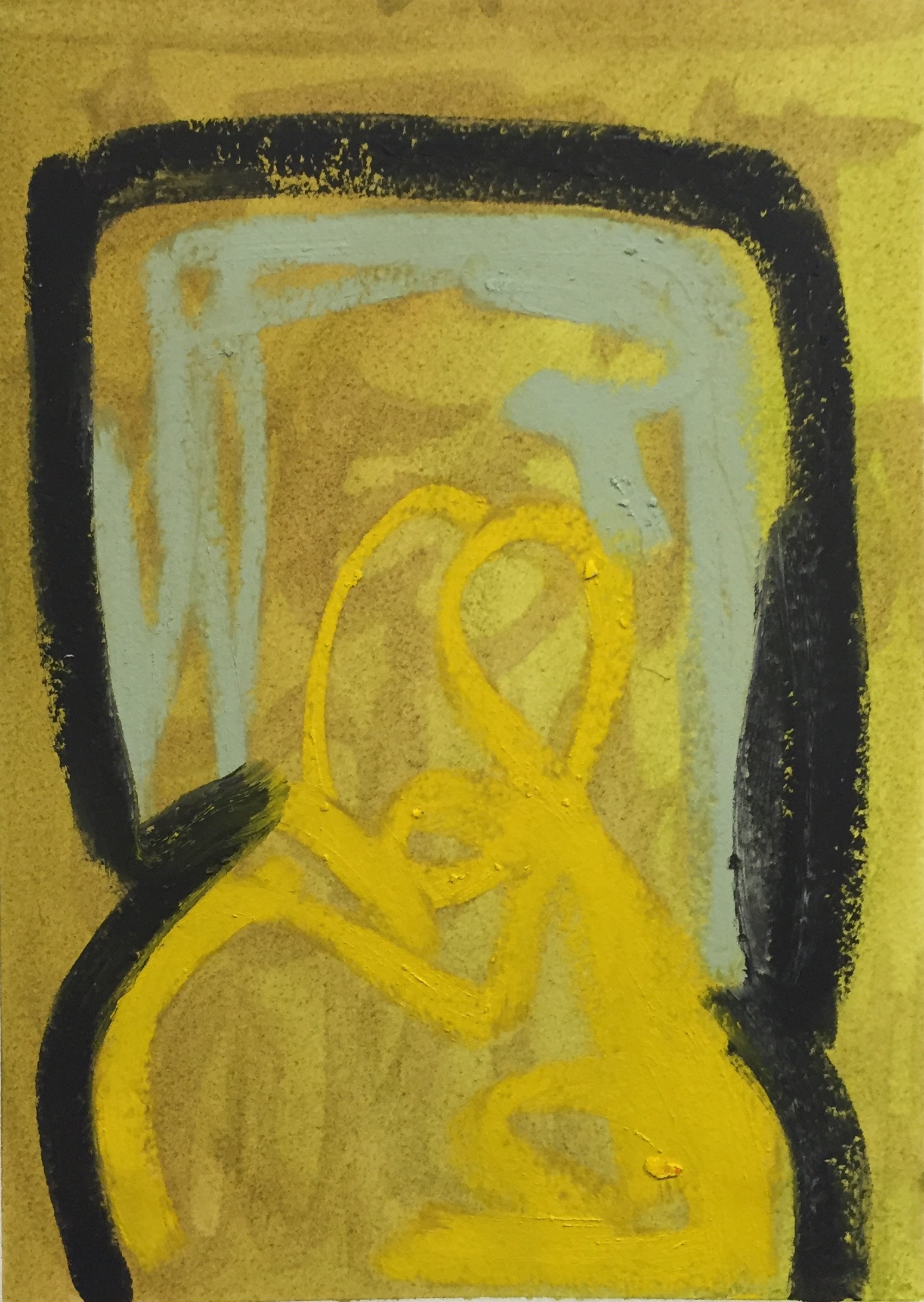 ALEXANDRA PRICE Controlled Happiness oil and oil stick on oil paper