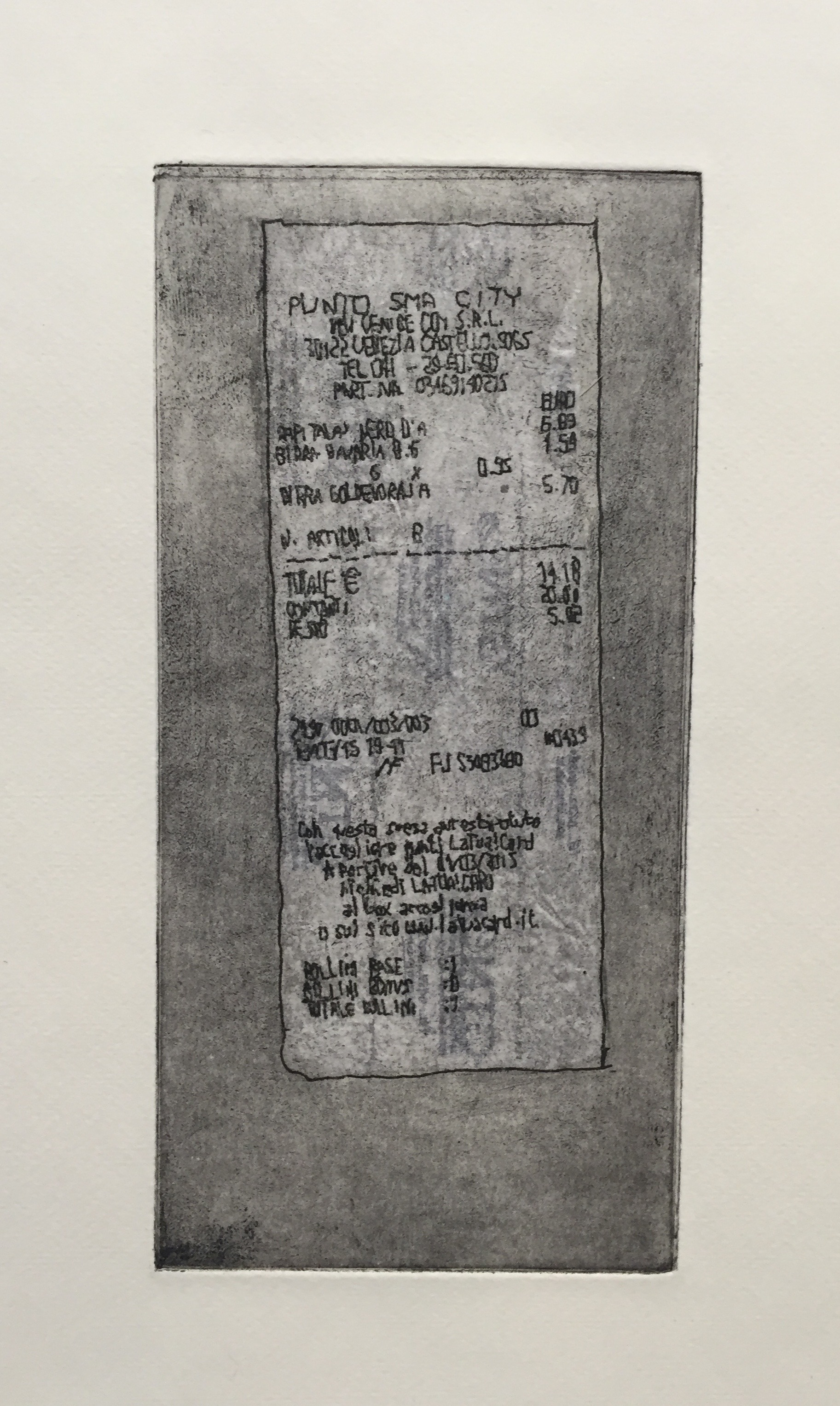 BRIANNE MCKAIN   Artifact I (artist's proof) - detail   etching, chine-collé