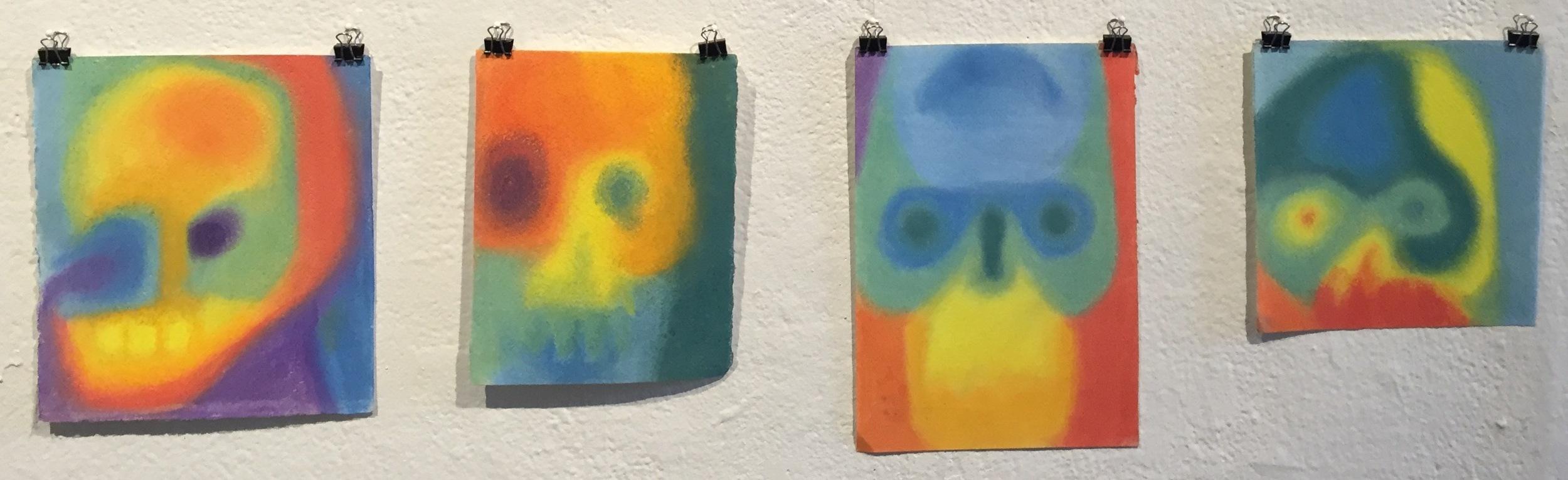 CONSTANZA VALENZUELA   Untitled    chalk pastel on watercolor paper