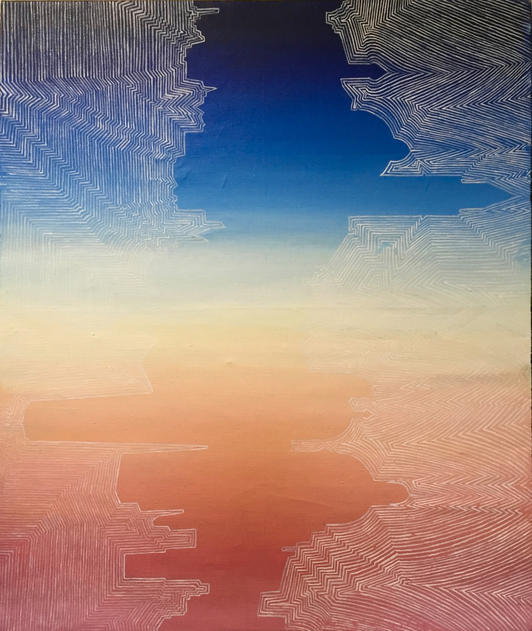 MAGGIE FISHER Sunset oil on canvas