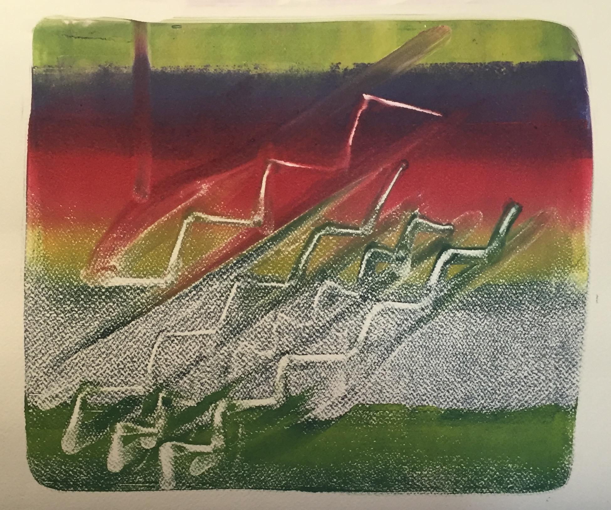 NINA SWISTEL   Ink Textile #4   monoprint