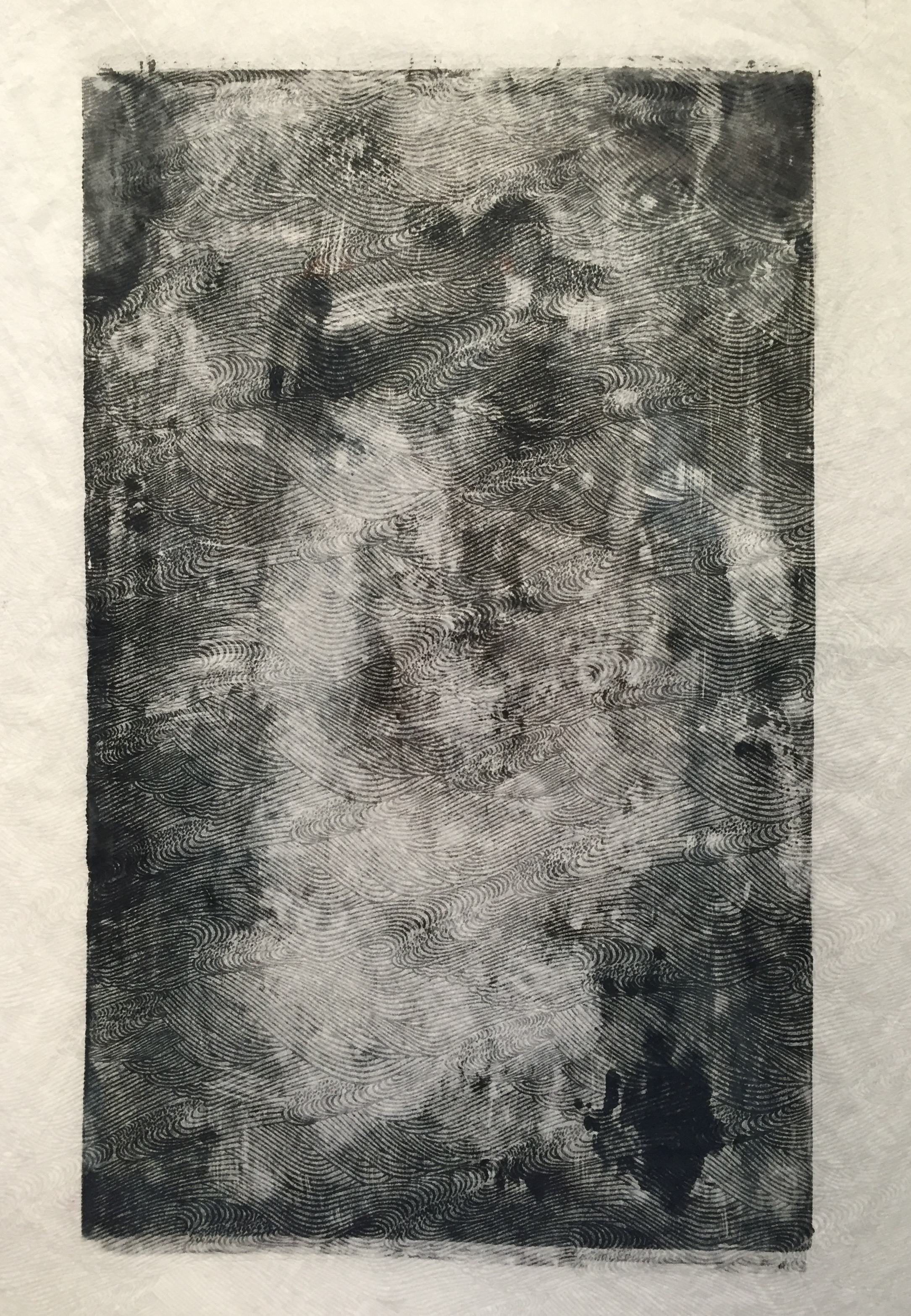 ADAM MCGOWAN   Untitled   etching on rice paper