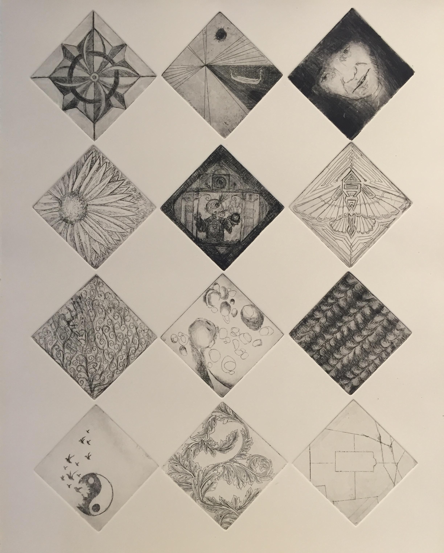 2015 PRINTMAKING CLASS   Group Print