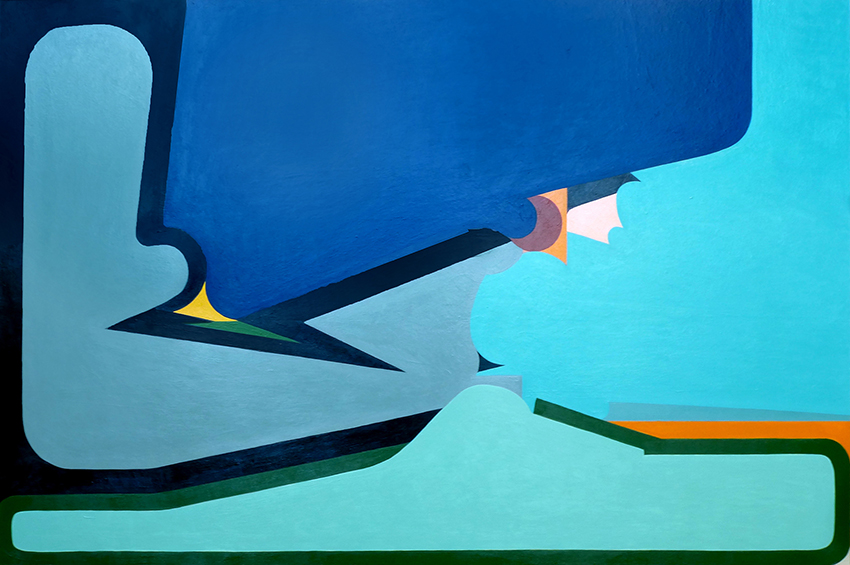 "Mario Naves, Fresno , 2015. Acrylic on panel, 20"" x 30"". Courtesy Elizabeth Harris Gallery, New York"
