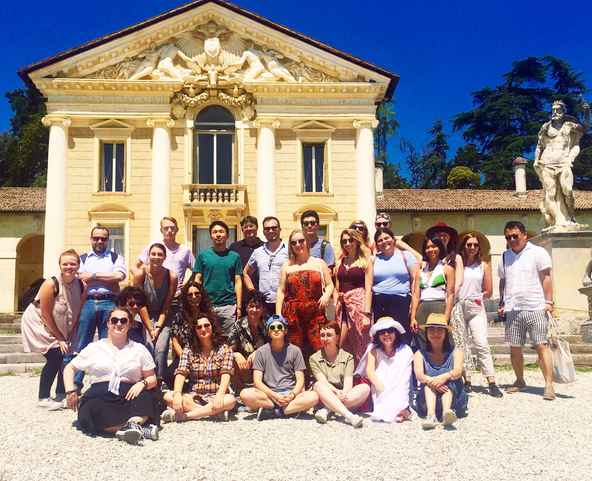 Faculty and students visit Palladio's Villa Barbaro at Maser