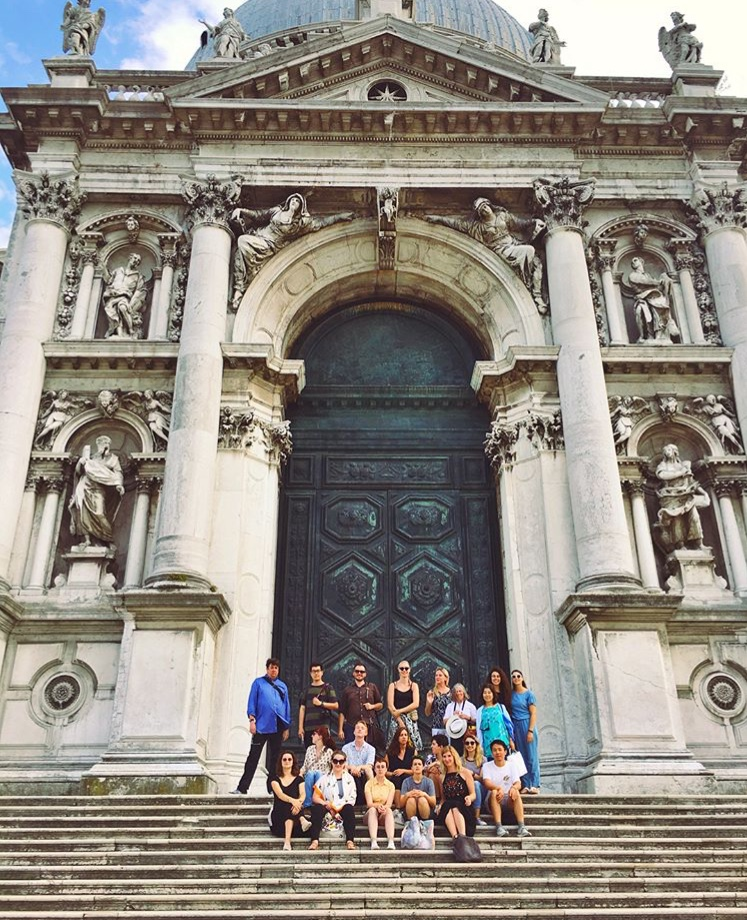 Another group photo at the Baroque church of Santa Maria della Salute!