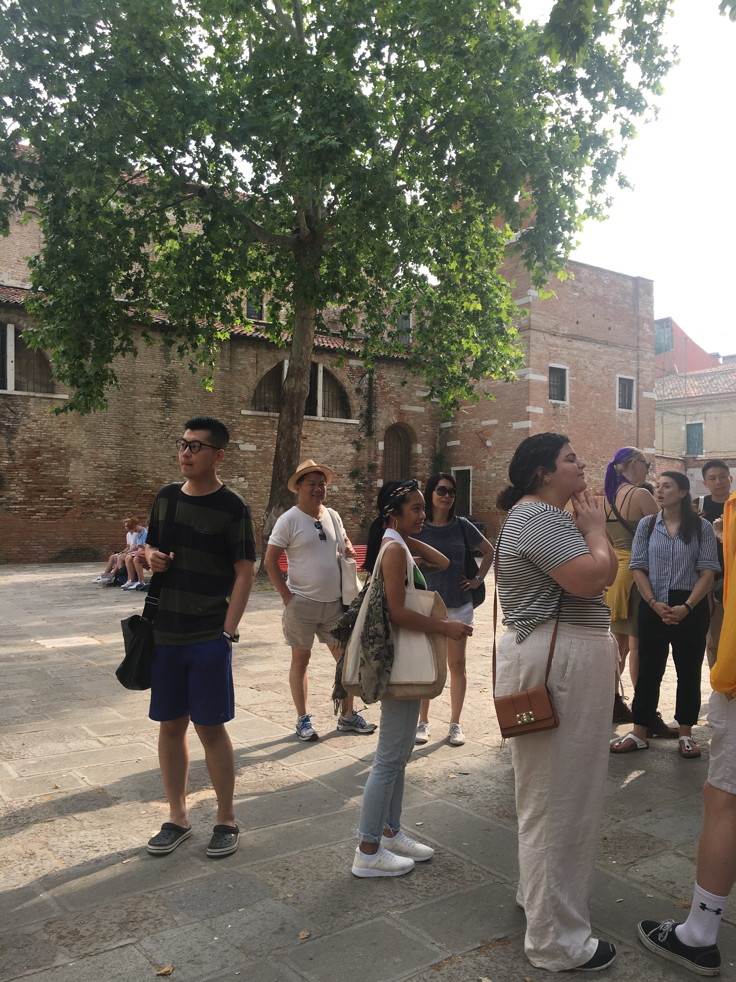 Penghui is pictured here during the first walking tour orientation