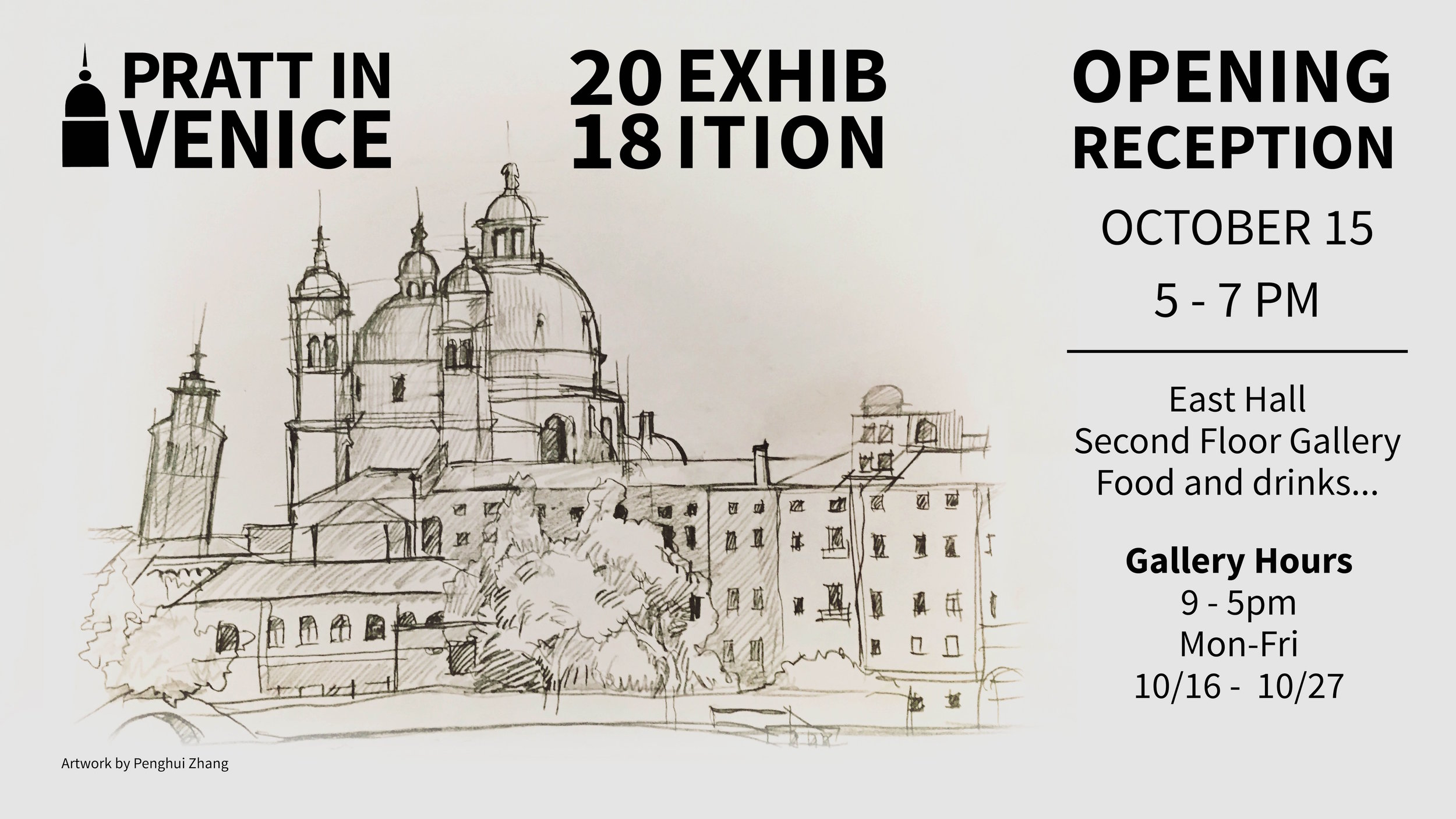 Our annual exhibition's poster featured a sketch of San Marco by Penghui Zhang!