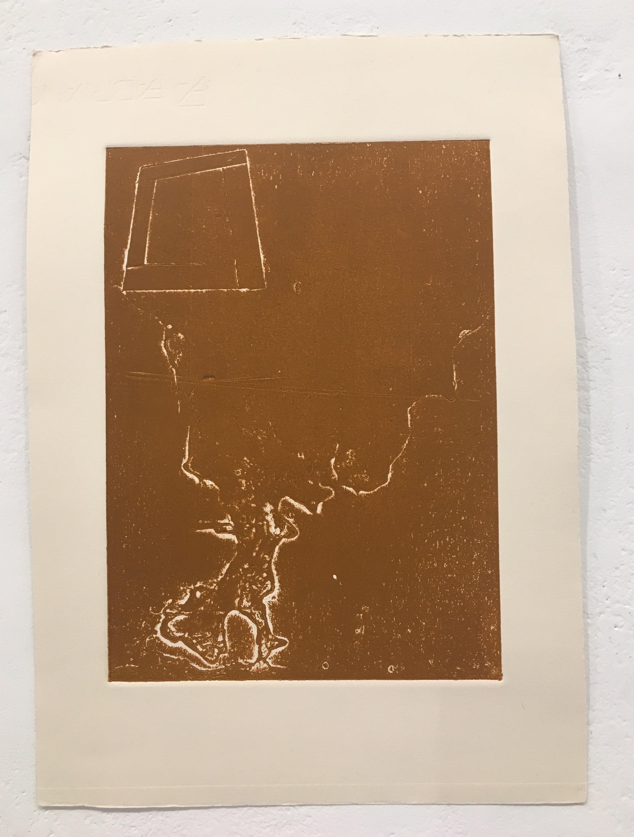 "Xingze Li, ""Untitled #4"" (collagraph print)"
