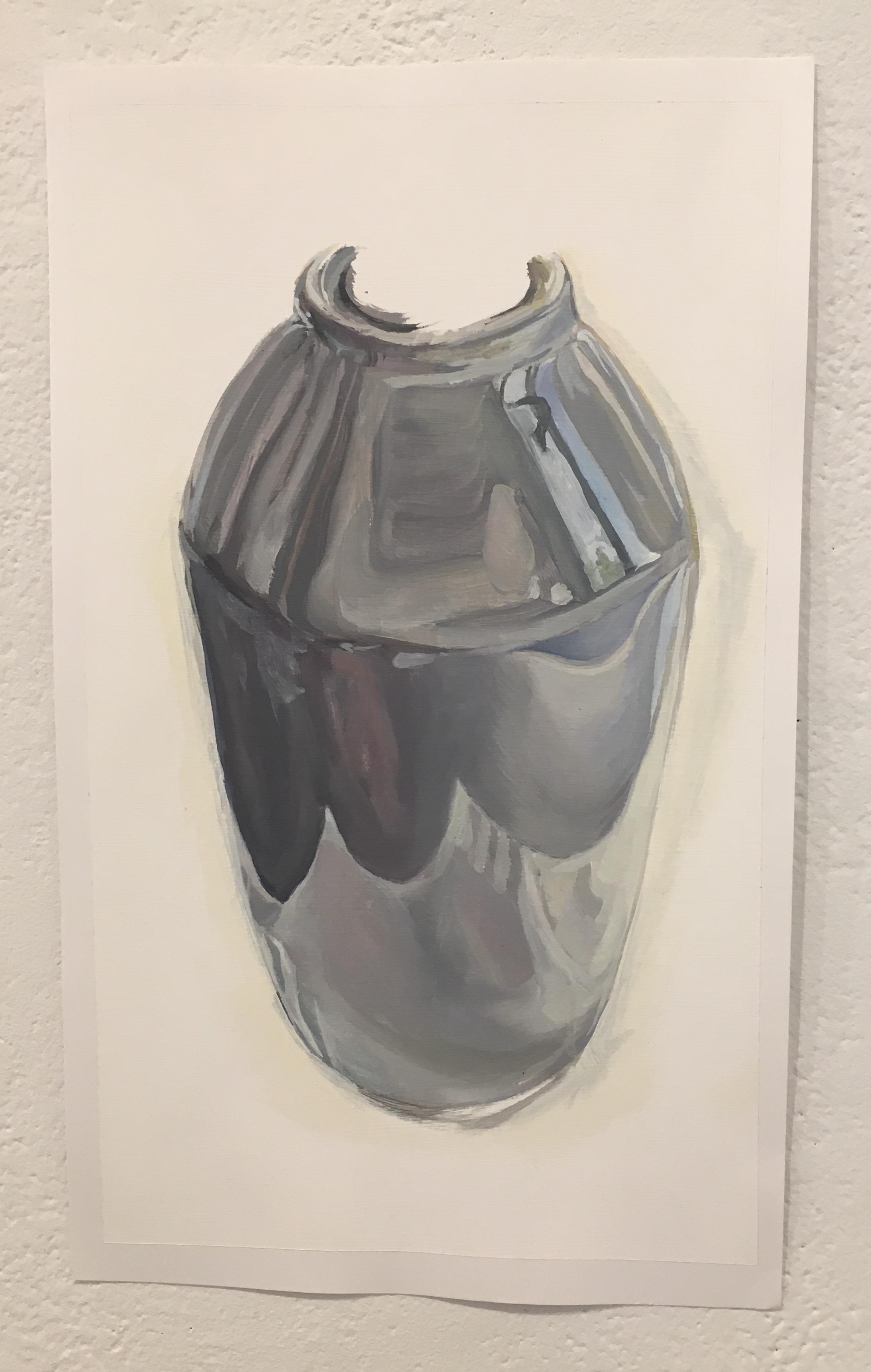 "Xingze Li, ""Vase Study in Venetian Morning"" (oil on paper)"