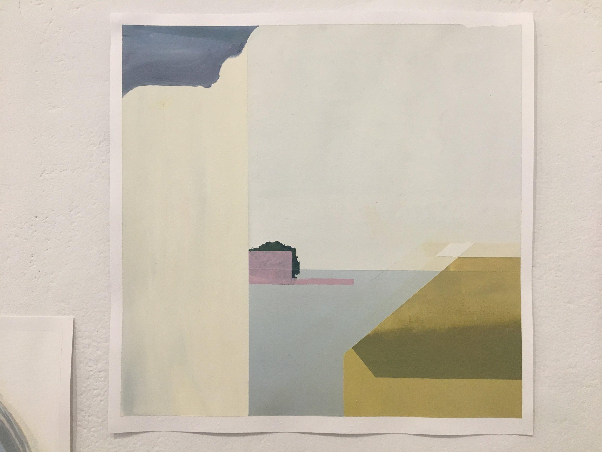 "Xingze Li, ""Untitled"" (oil on paper)"