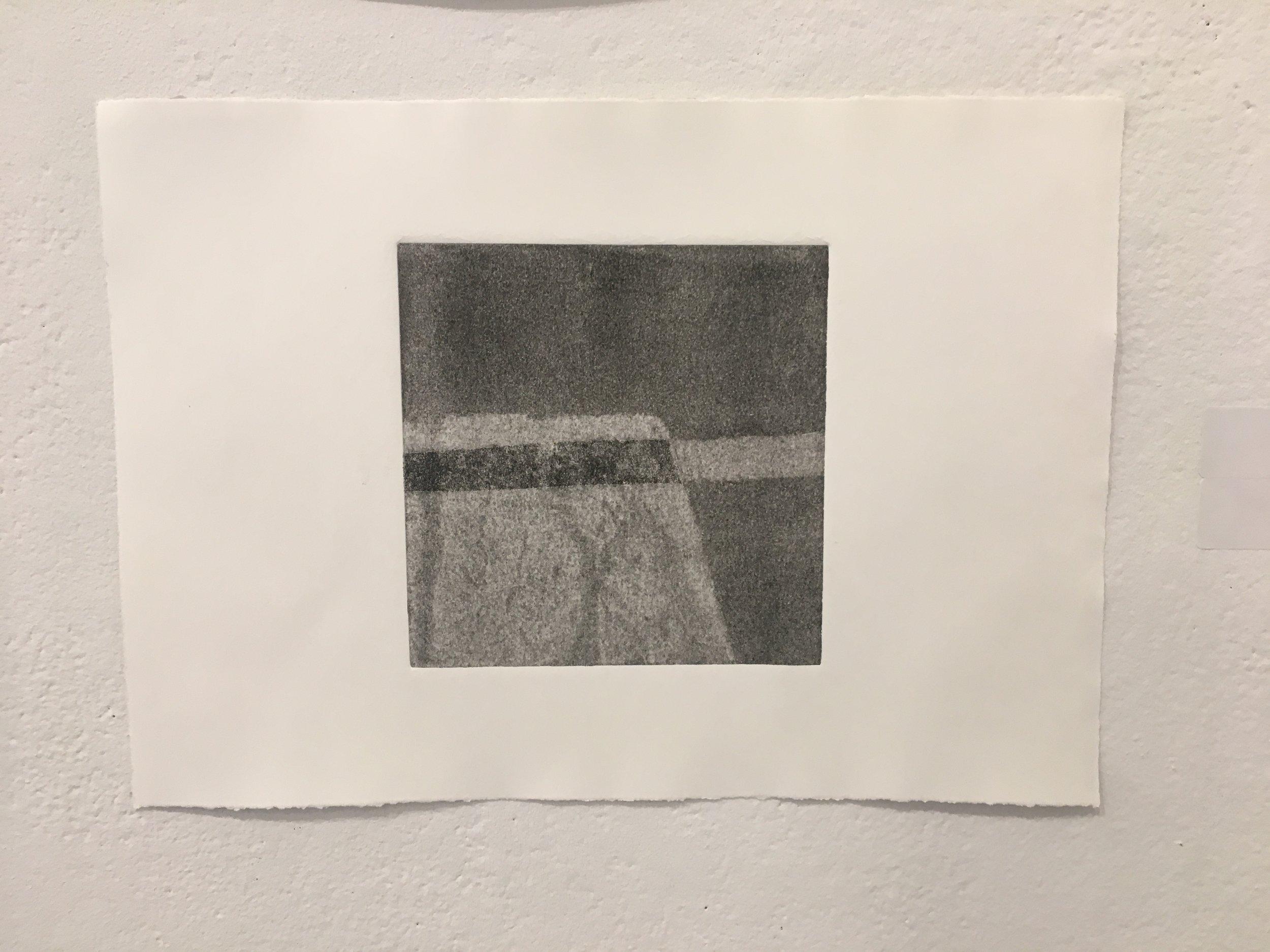 "Xingze Li,  ""Untitled #5"" (collograph on paper)"