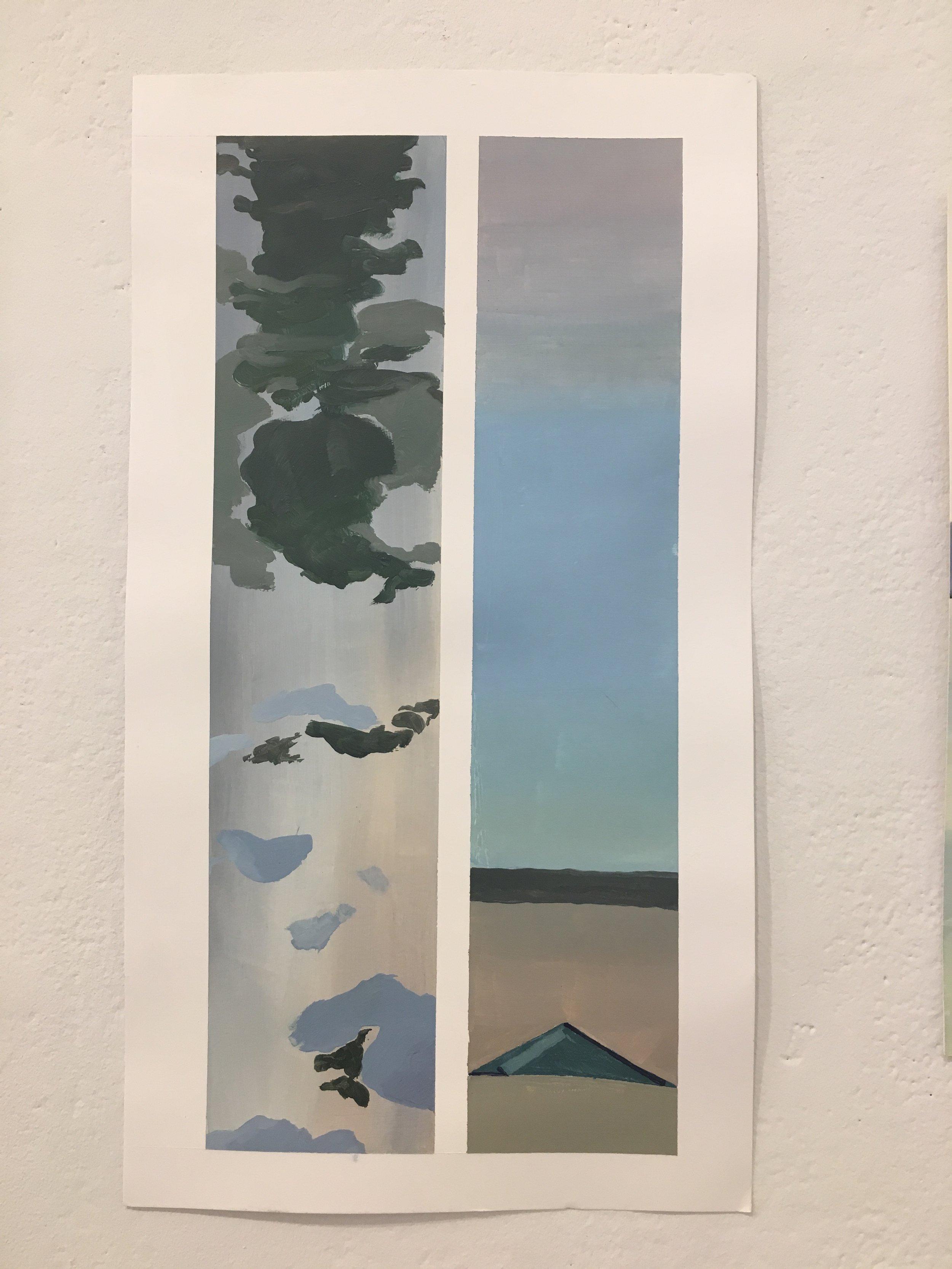 "Xingze Li, ""Venetian Color Study"" (oil on paper)"