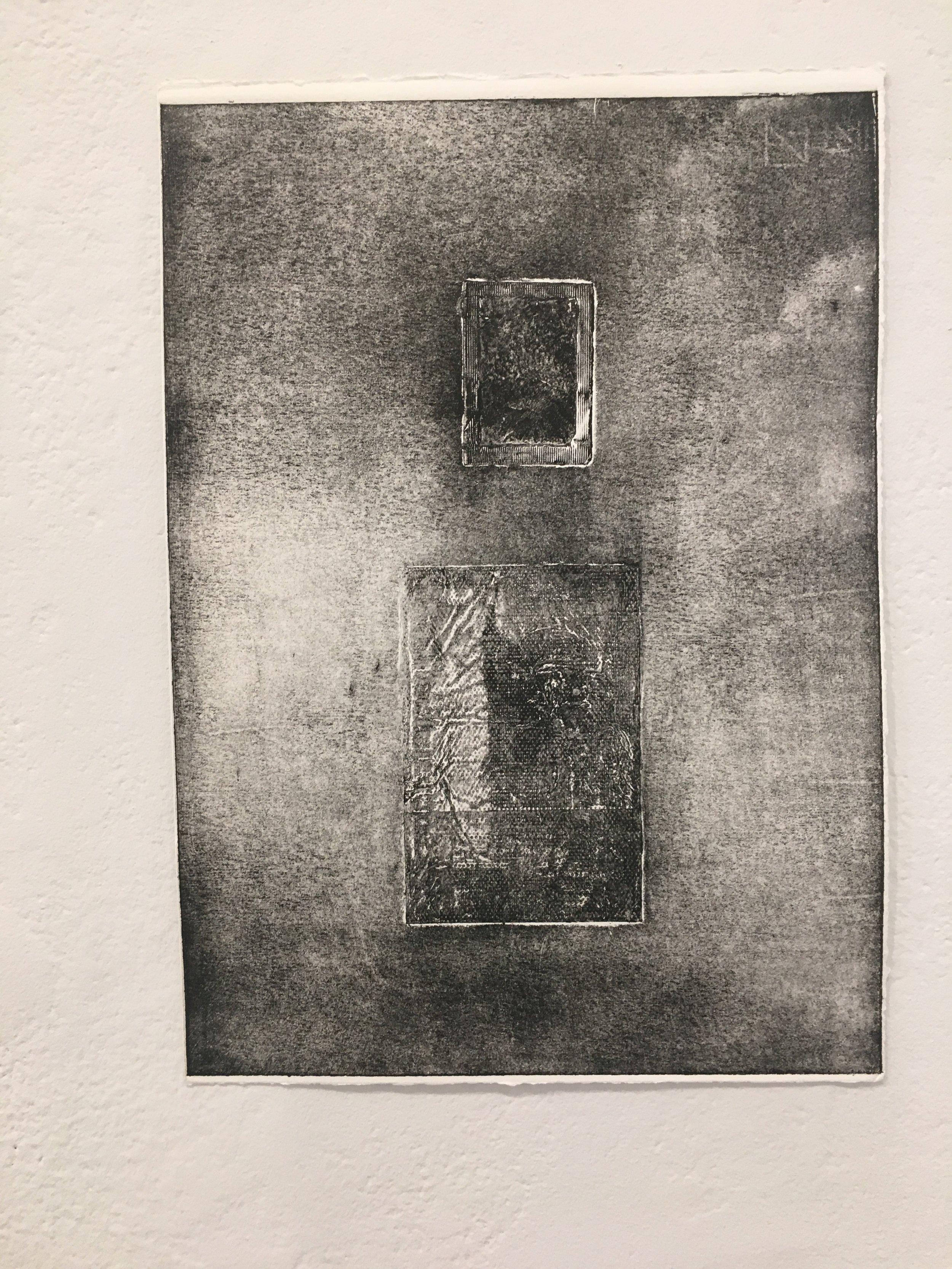 "Xingze Li, ""Untitled #15"" (collograph on paper)"