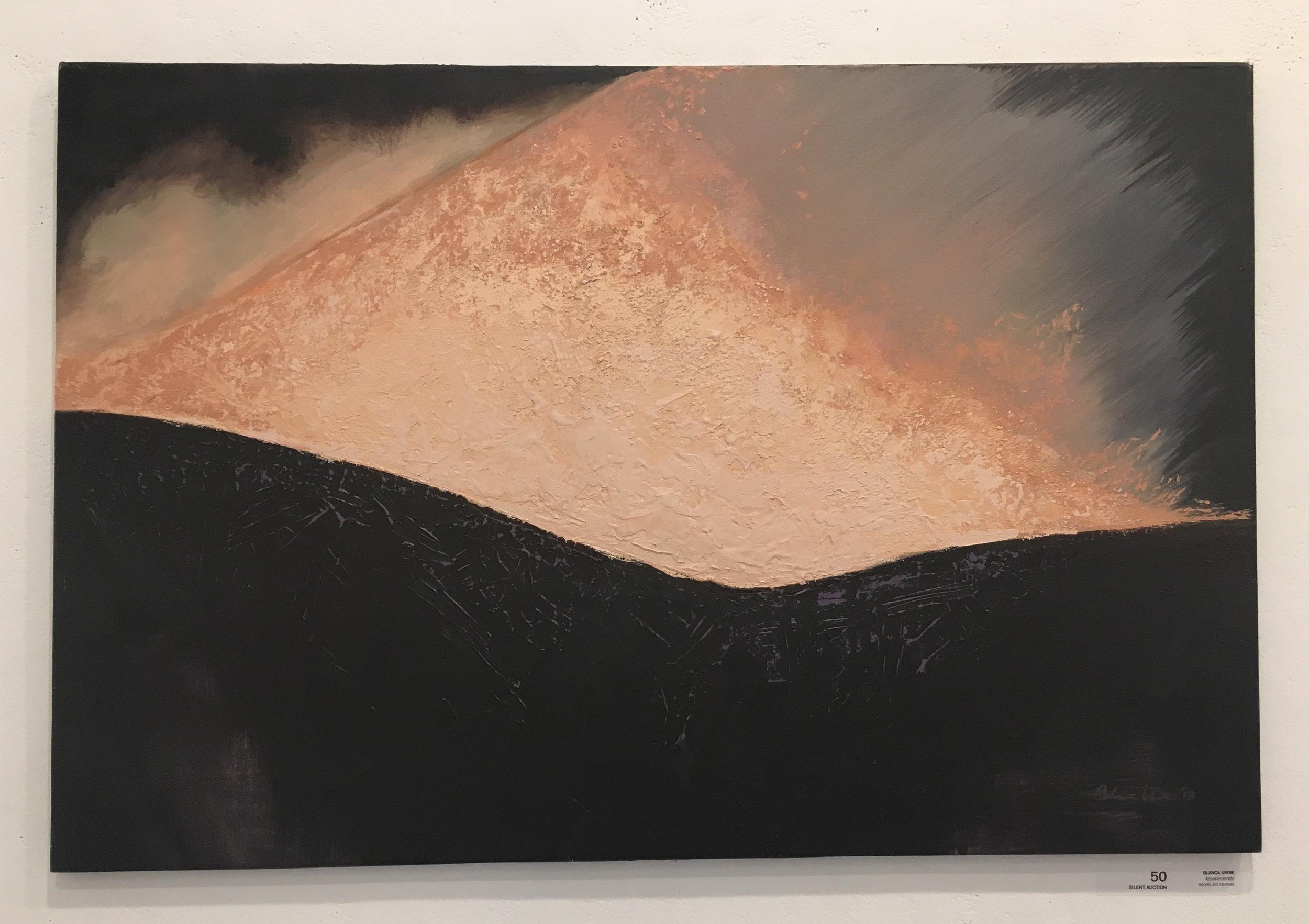 """Blanca Uribe, """"Amaneciendo"""" (acrylic on canvas)"""