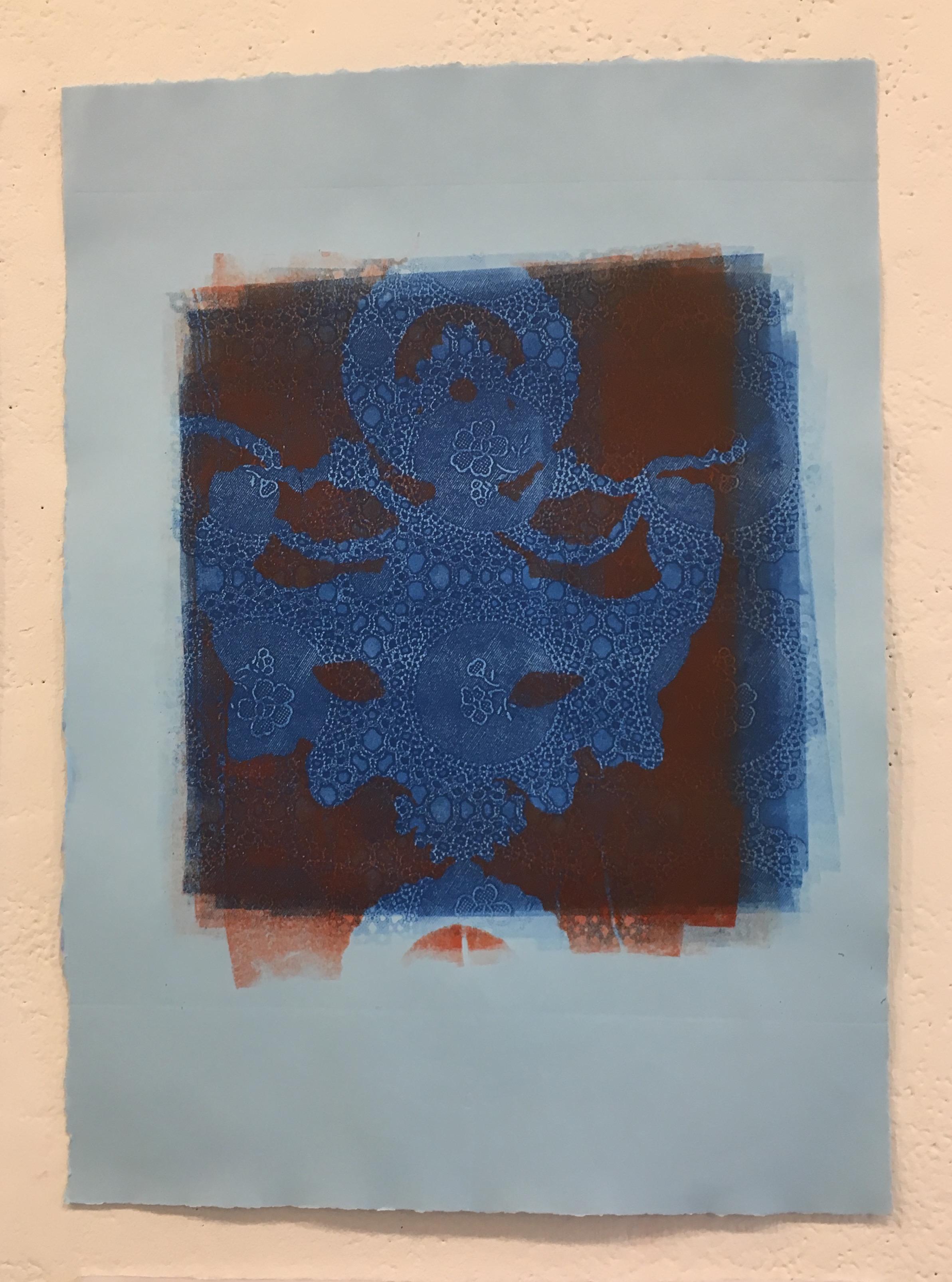 "Aubrey Roemer, ""Venetian Mask IV"" (collograph print)"