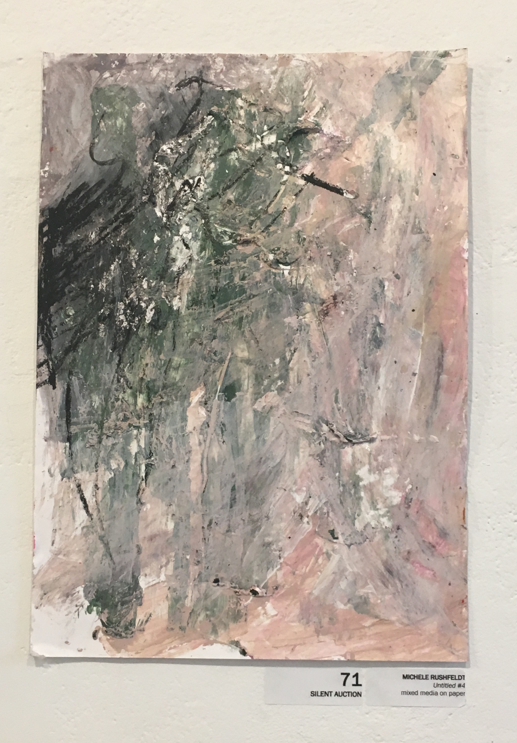 "Michele Rushfeldt, ""Untitled #4"" (mixed media on paper)"