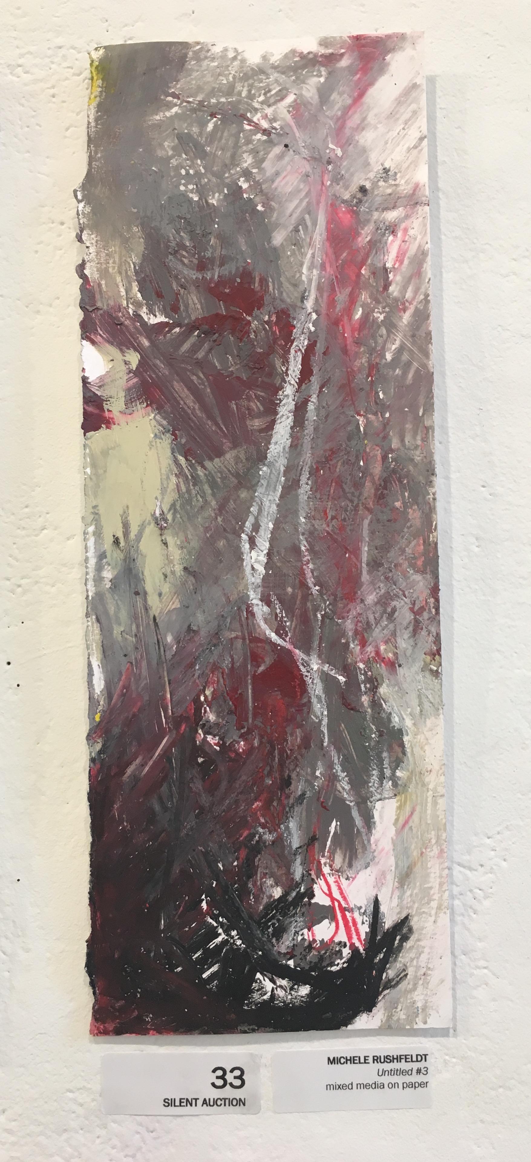 "Michele Rushfeldt, ""Untitled #3"" (mixed media on paper)"