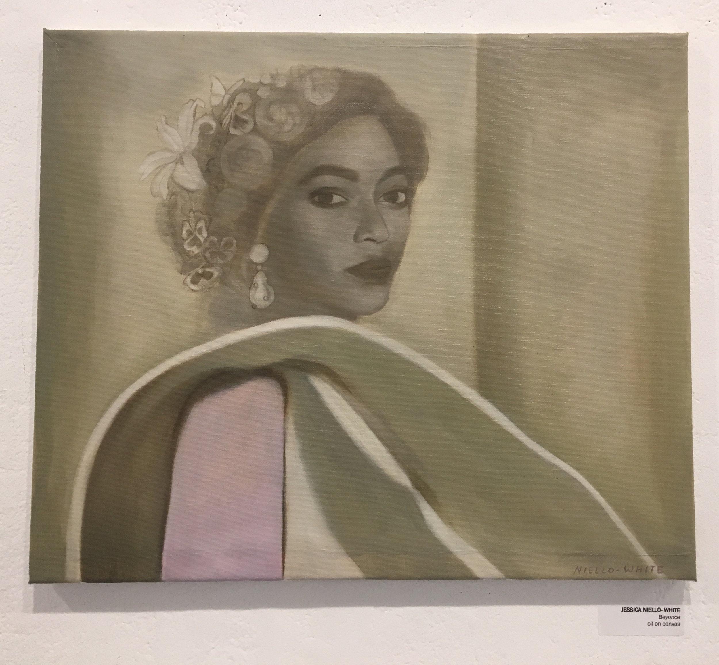 """Jessica Niello- White, """"Beyonce"""" (oil on canvas)"""
