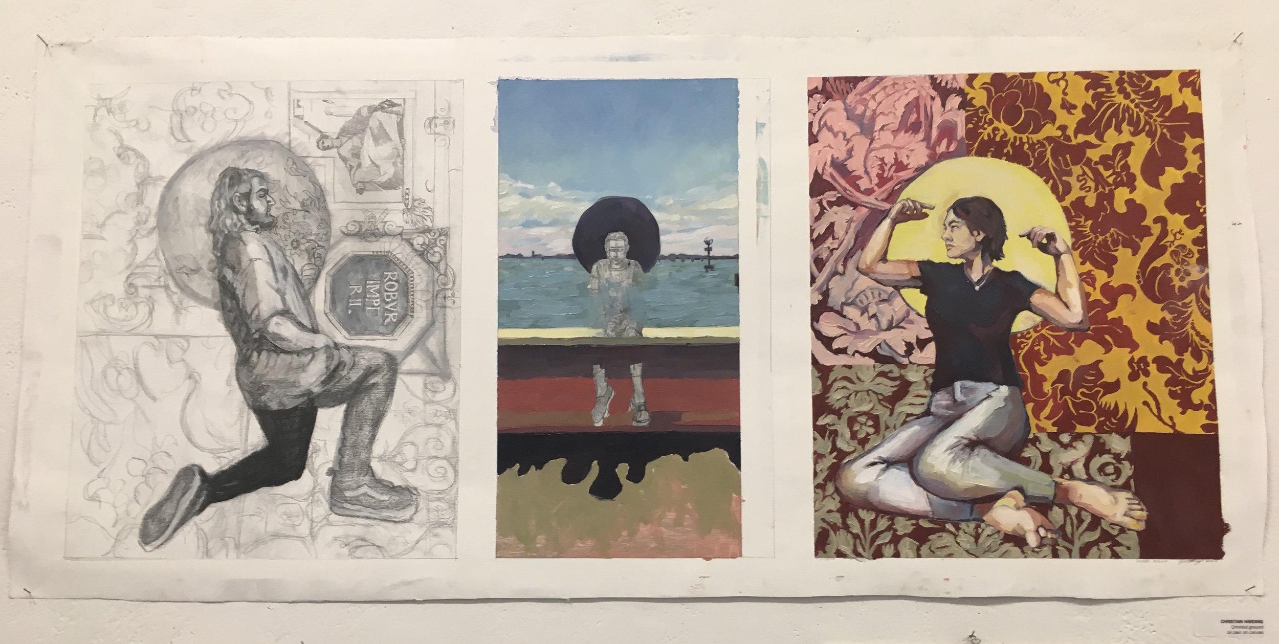 "Christian Harding, ""Crinkled Ground"" (oil paint on canvas)"