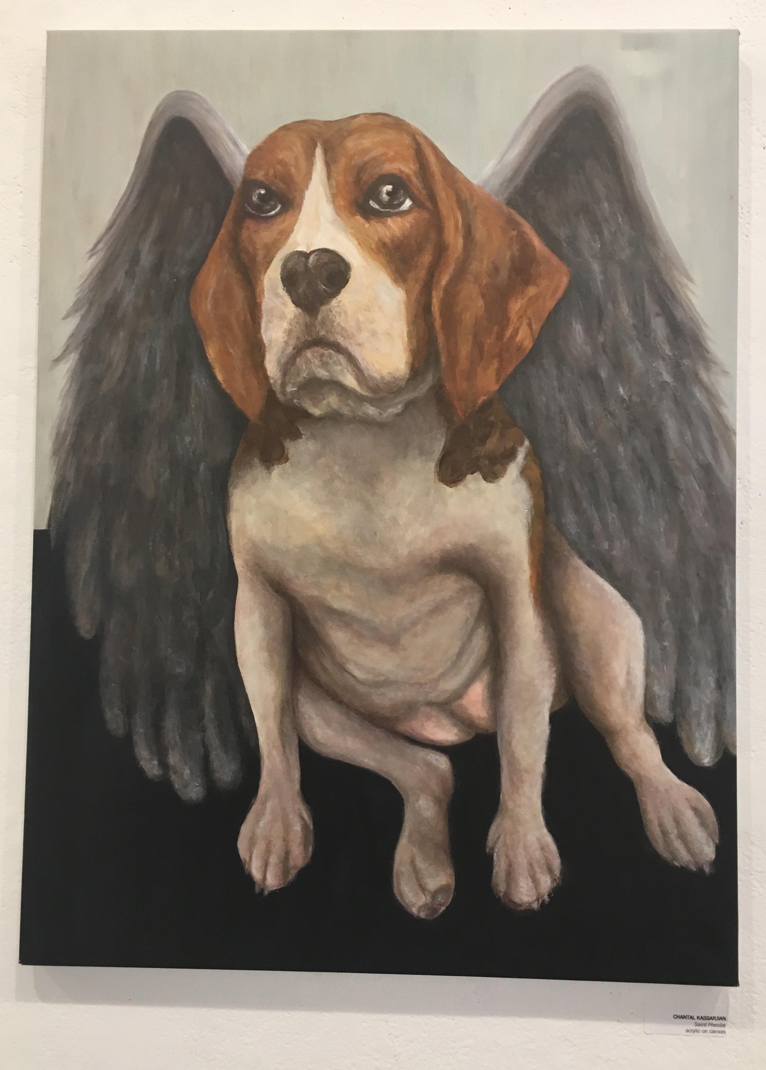"Chantal Kassarjian, ""Saint Pheobe"" (acrylic on canvas)"