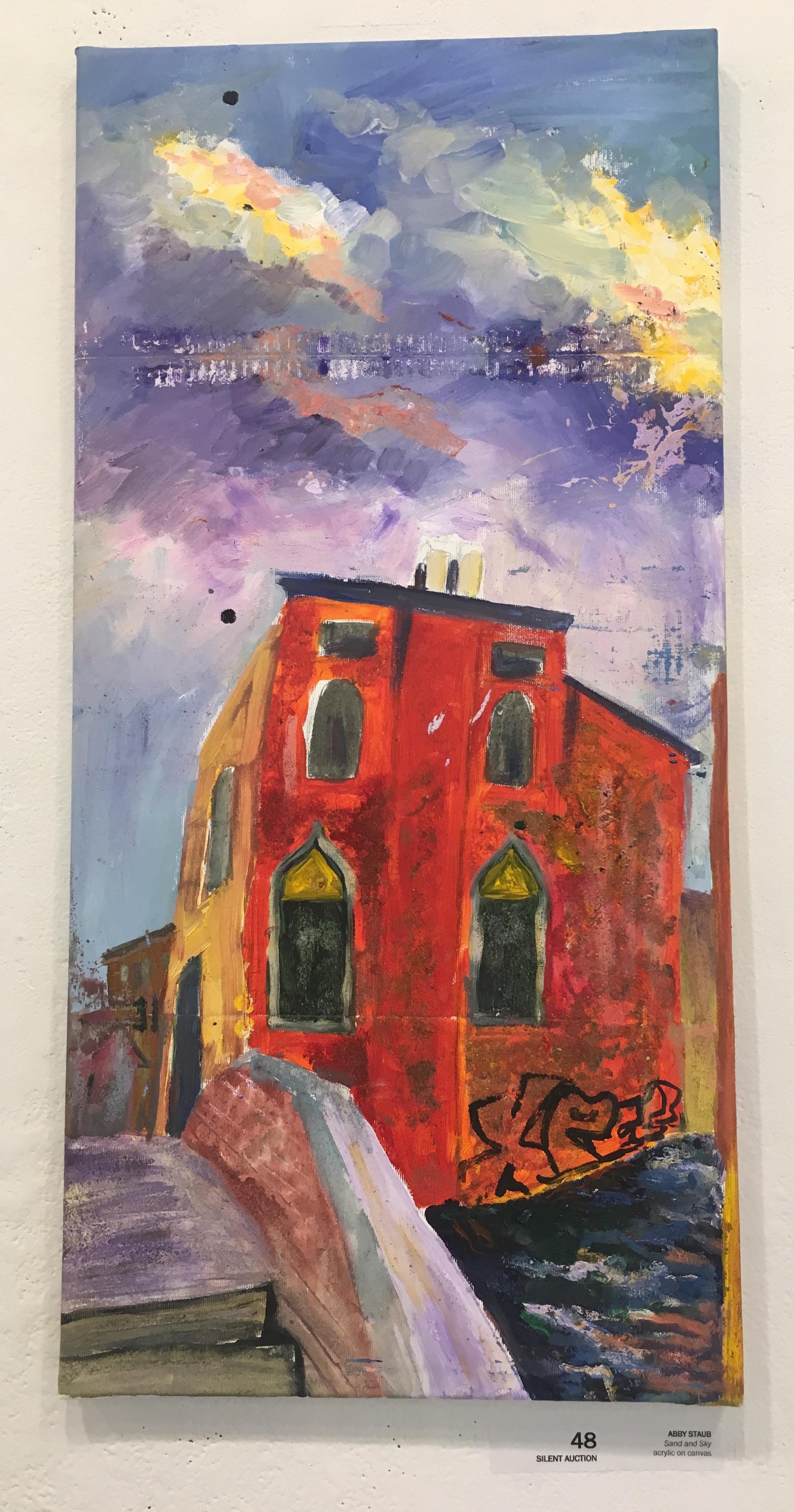 """Abby Staub, """"Sand and Sky"""" (acrylic on canvas)"""