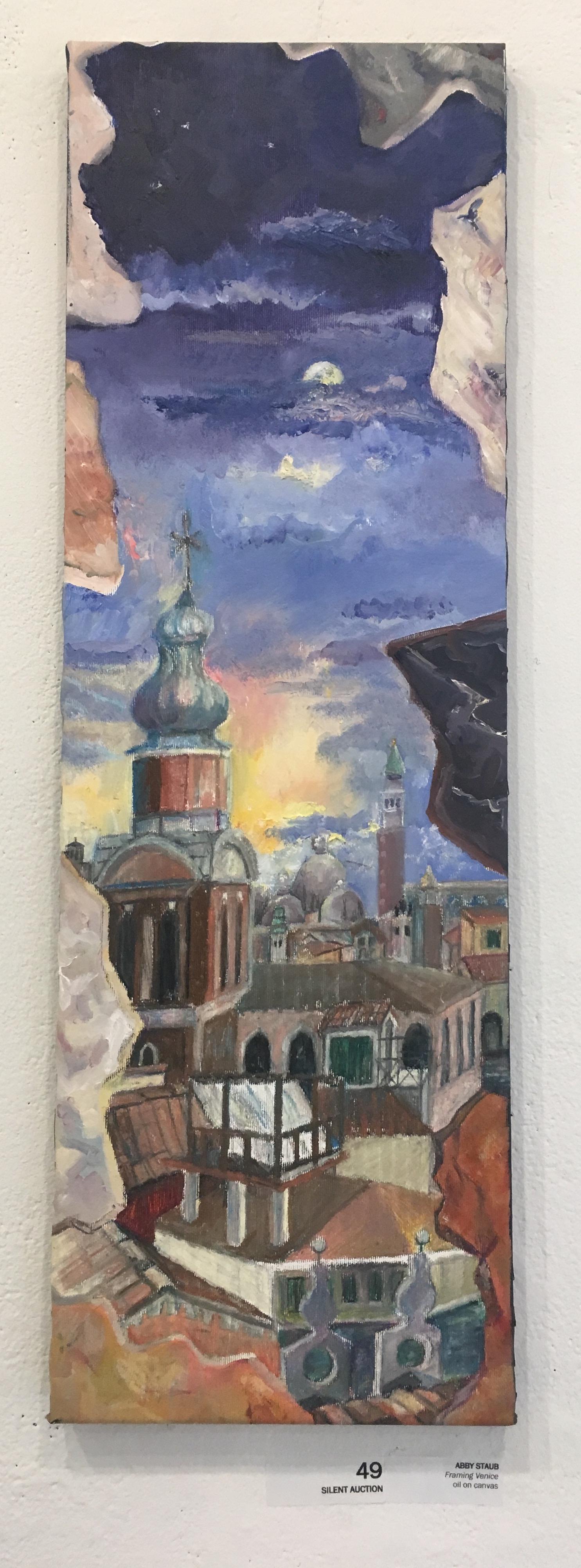 """Abby Staub, """"Framing Venice"""" (oil on canvas)"""