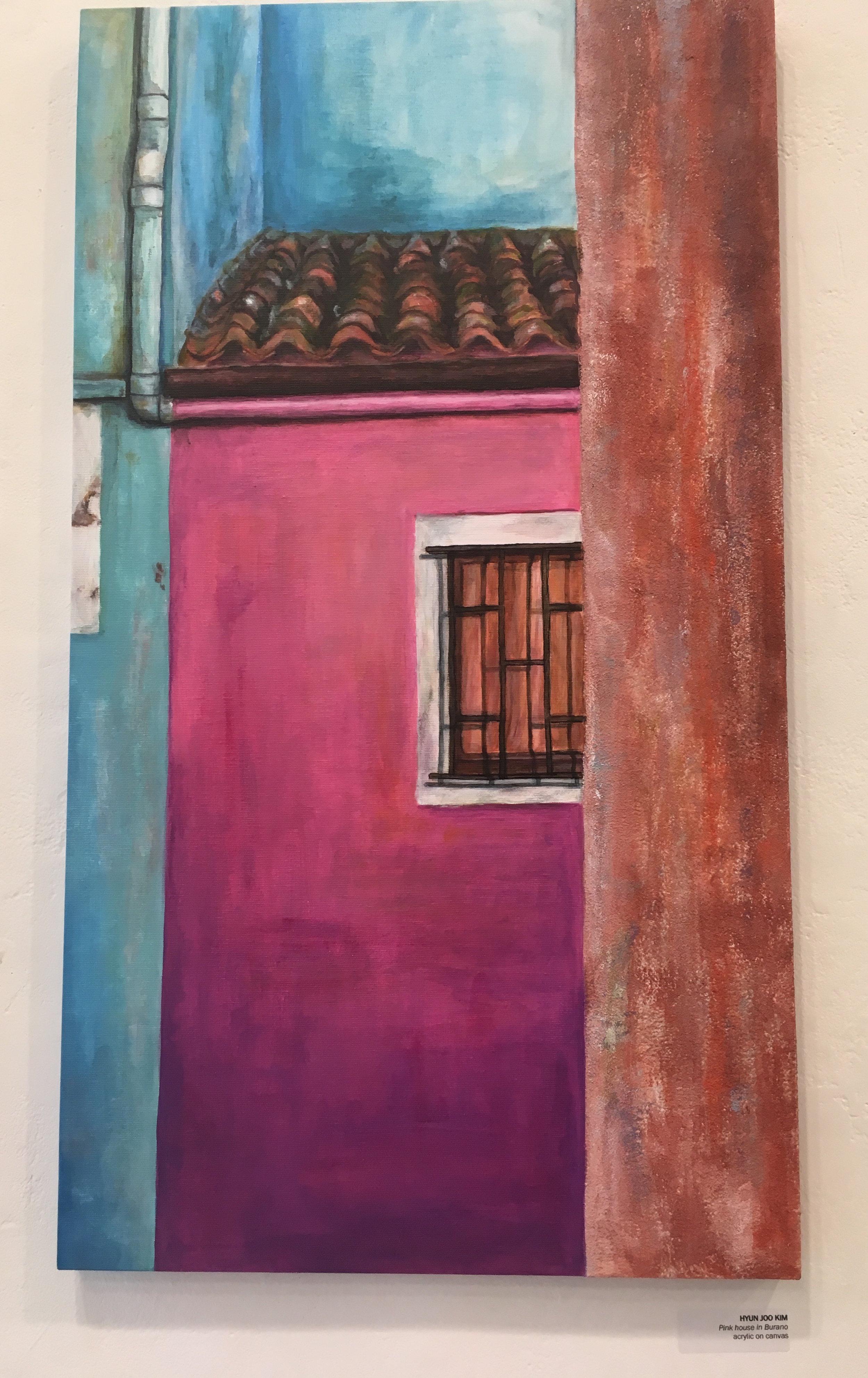 "Hyun Joo Kim, ""Pink House in Burano"" (acrylic on canvas)"