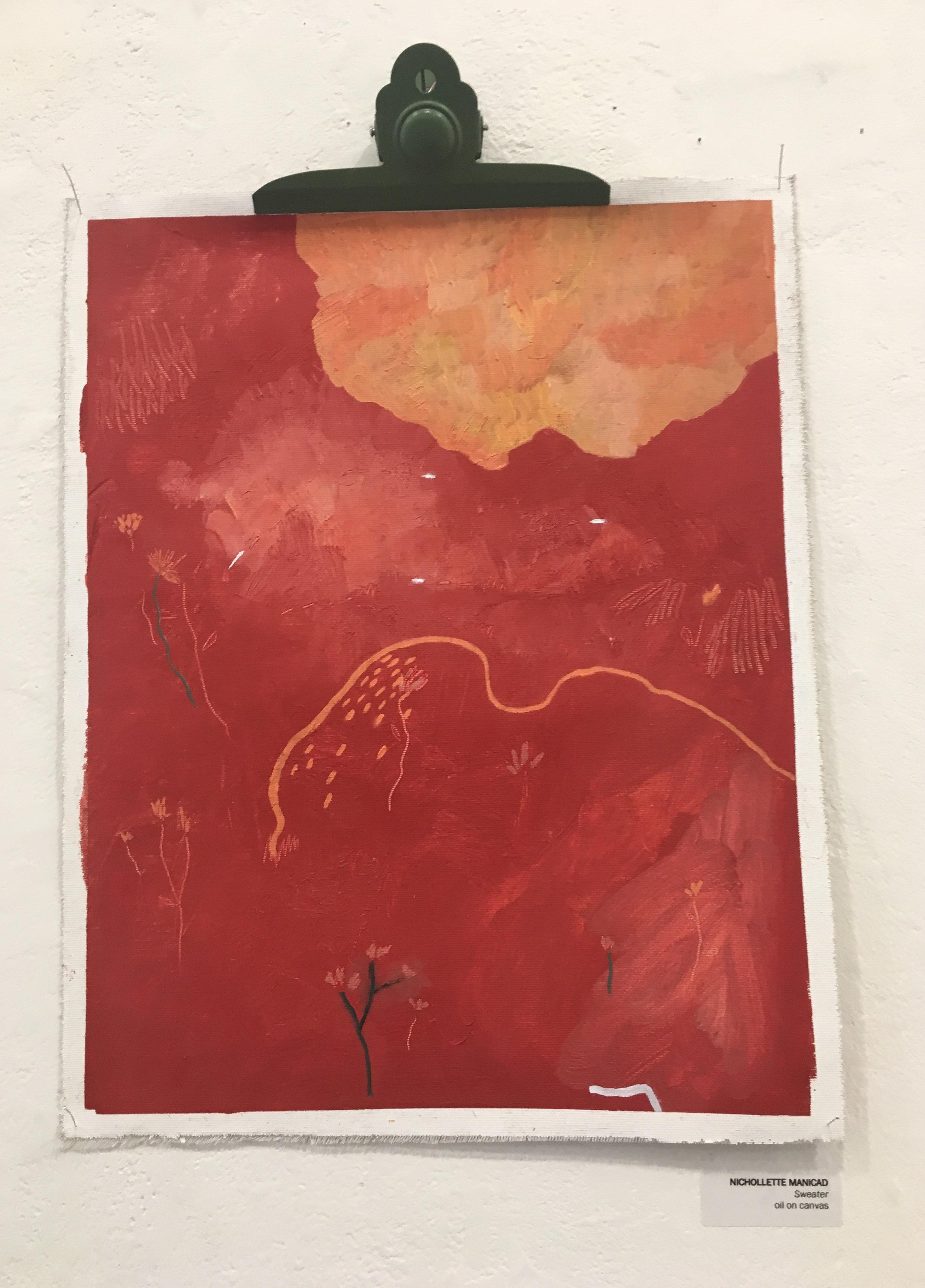 "Nichollette Manicad, ""Sweater"" (oil on canvas)"