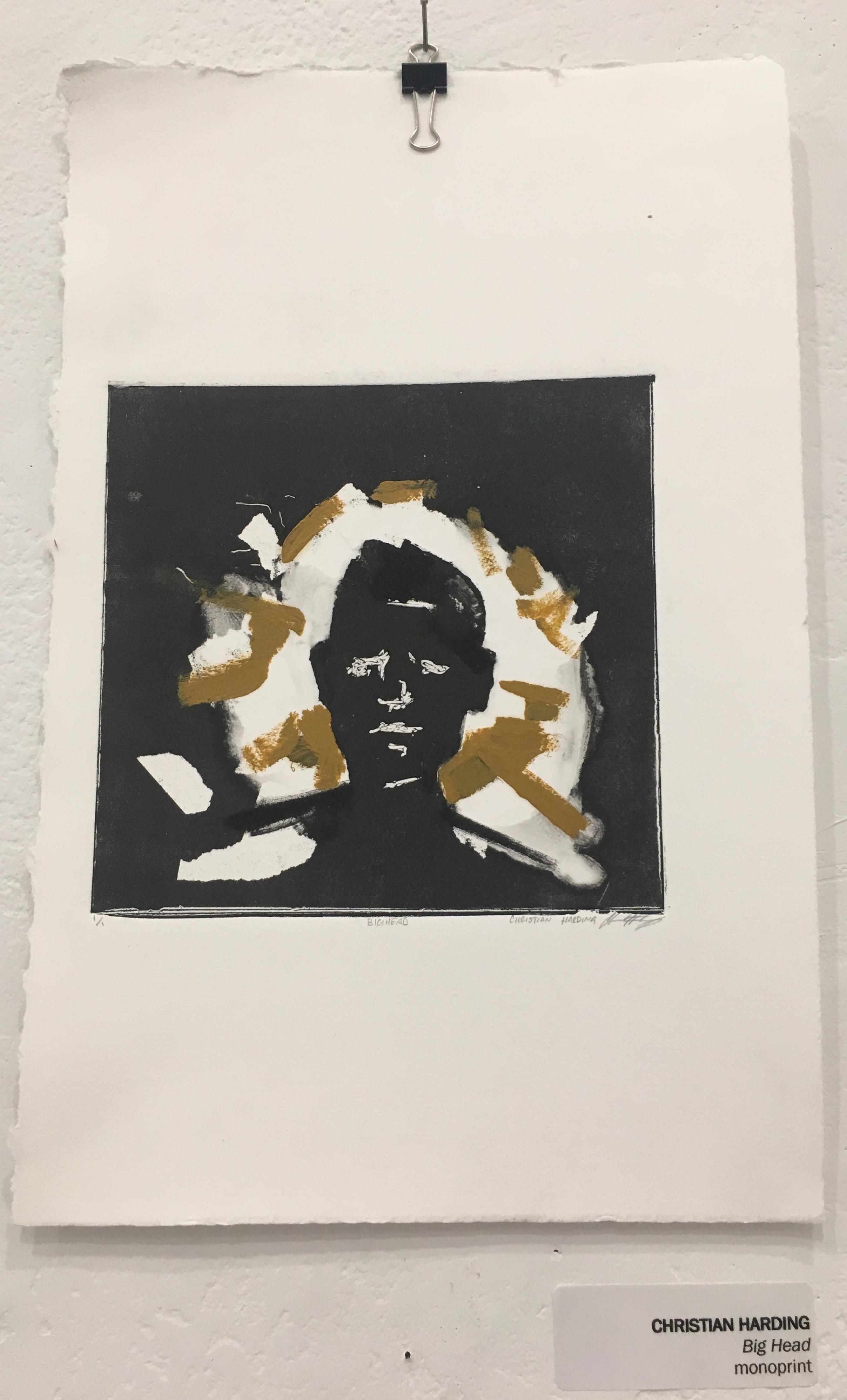 "Christian Harding, ""Big Head"" (monoprint)"