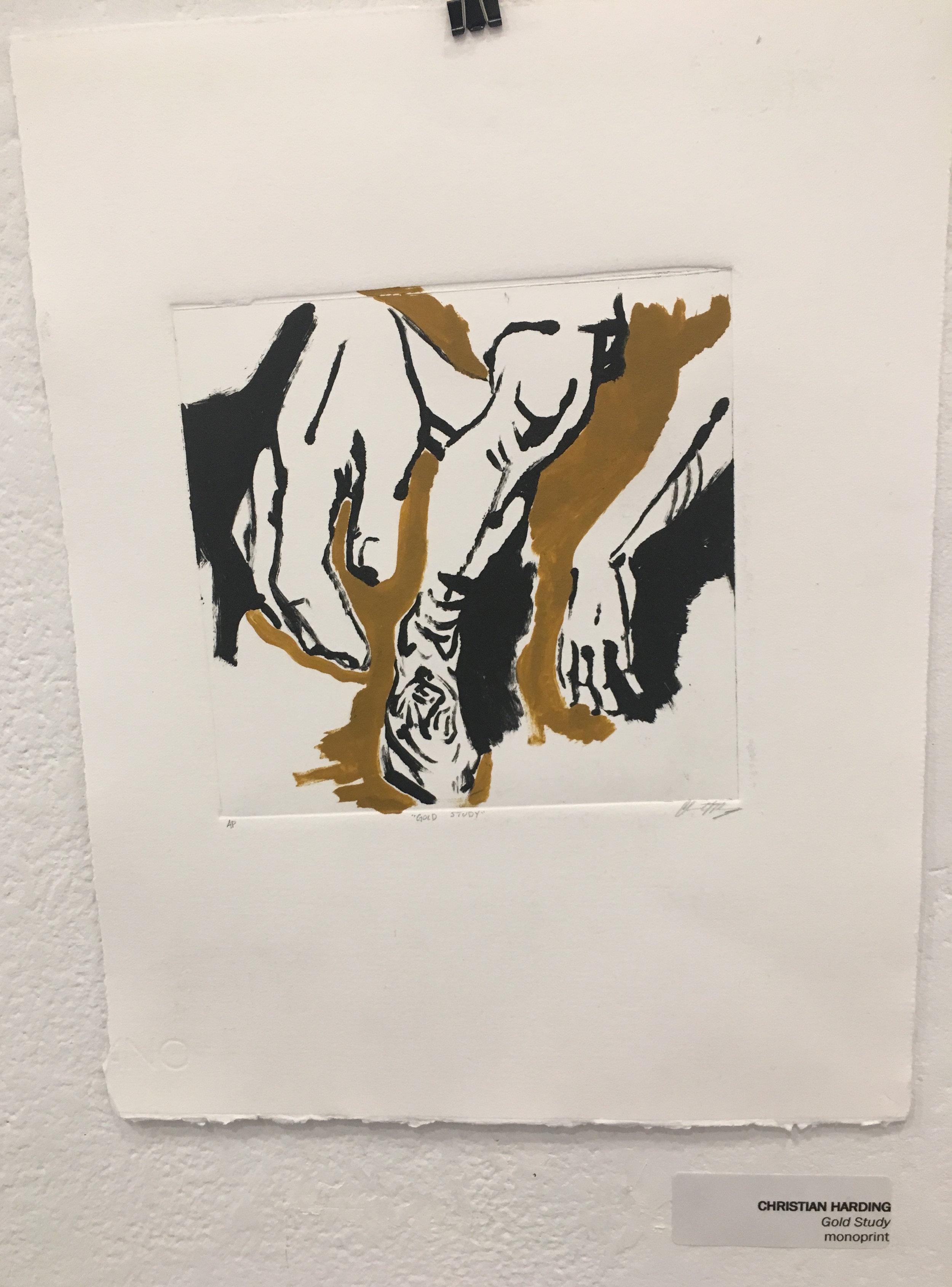 "Christian Harding, ""Gold Study"" (monoprint)"