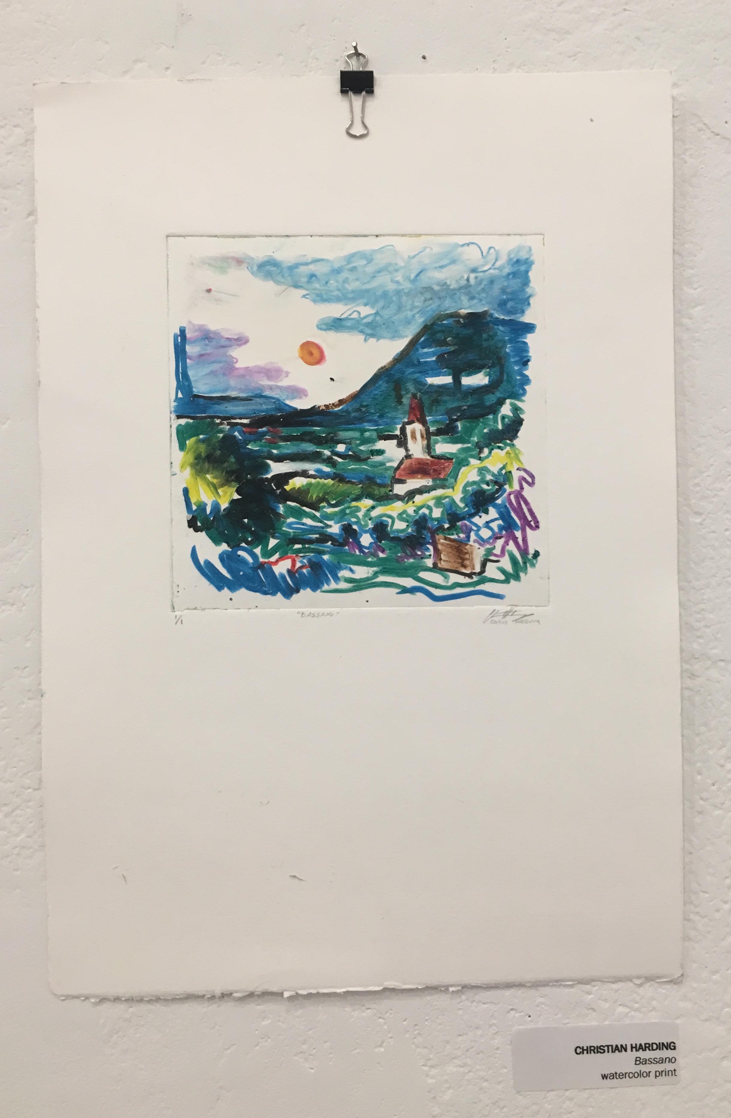 "Christian Harding, ""Bassano"" (watercolor print)"