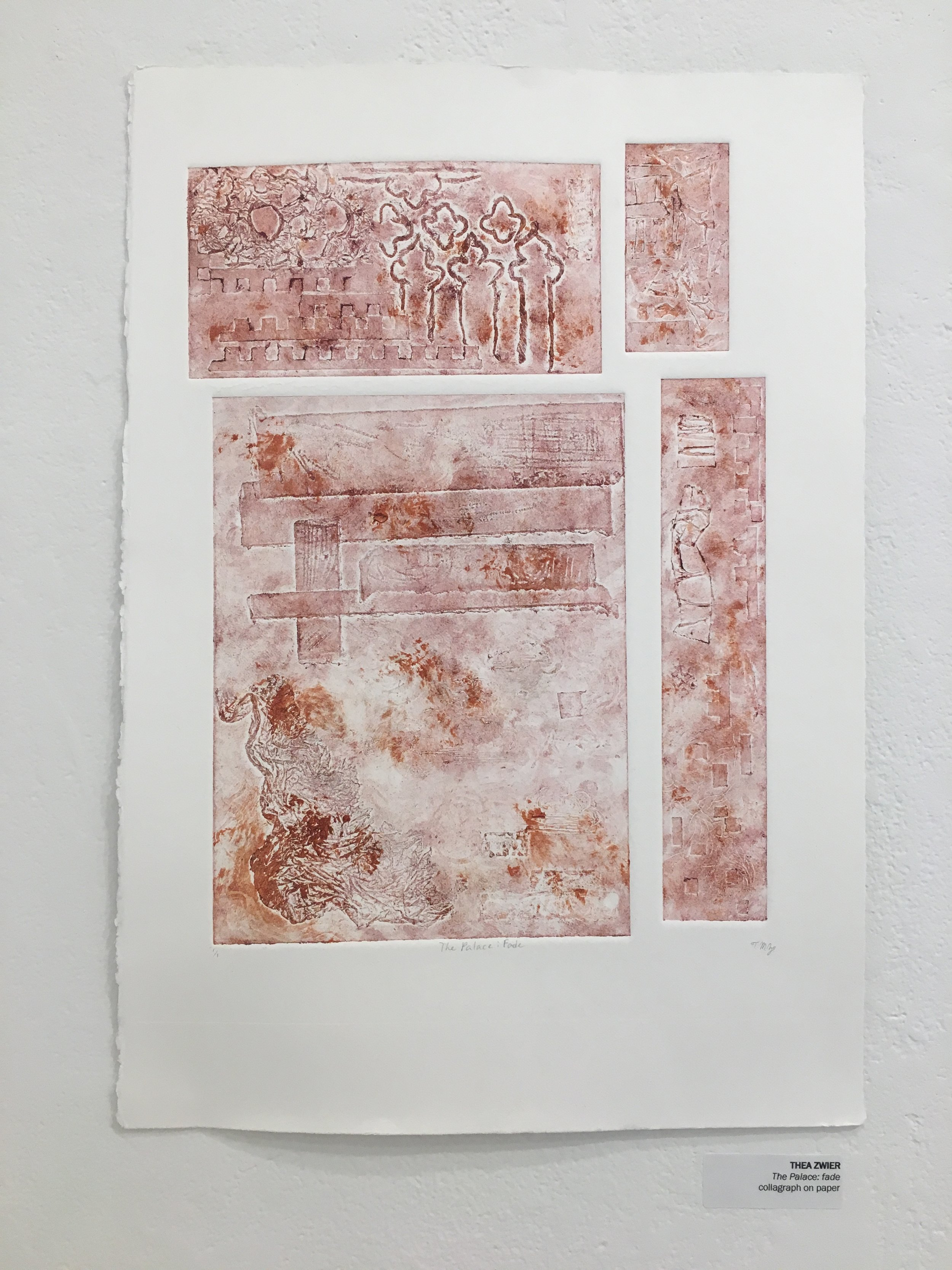 """Thea Zwier, """"The Palace: fade"""" (collagrpah on paper)"""