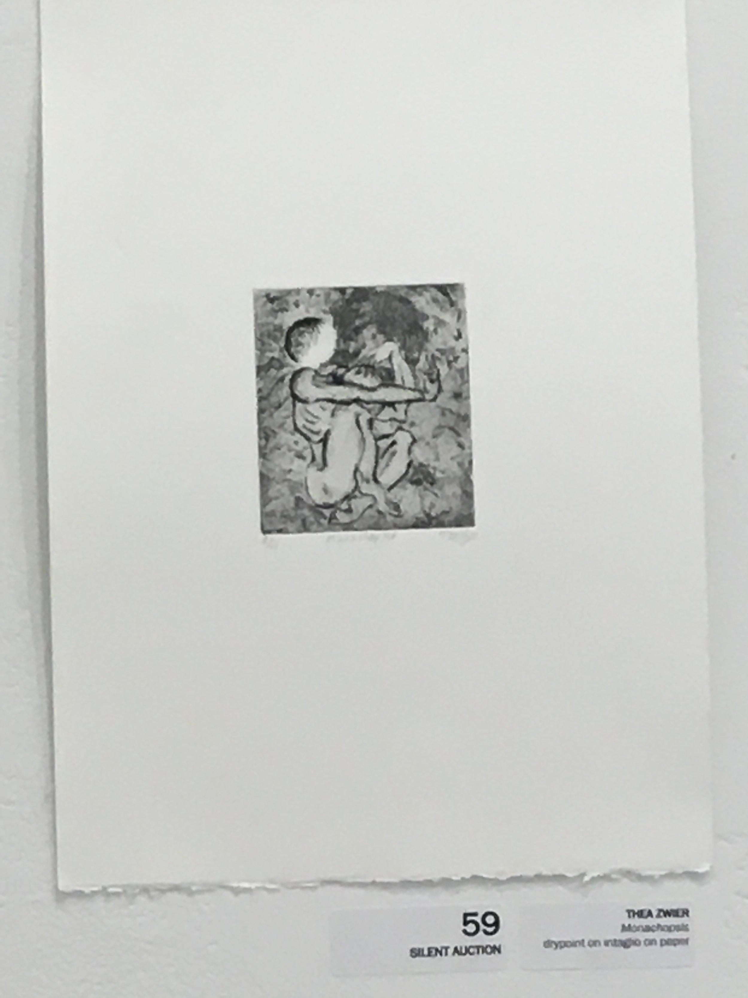"Thea Zwier ""Monachopsis"" (drypoint on itaglio on paper)"
