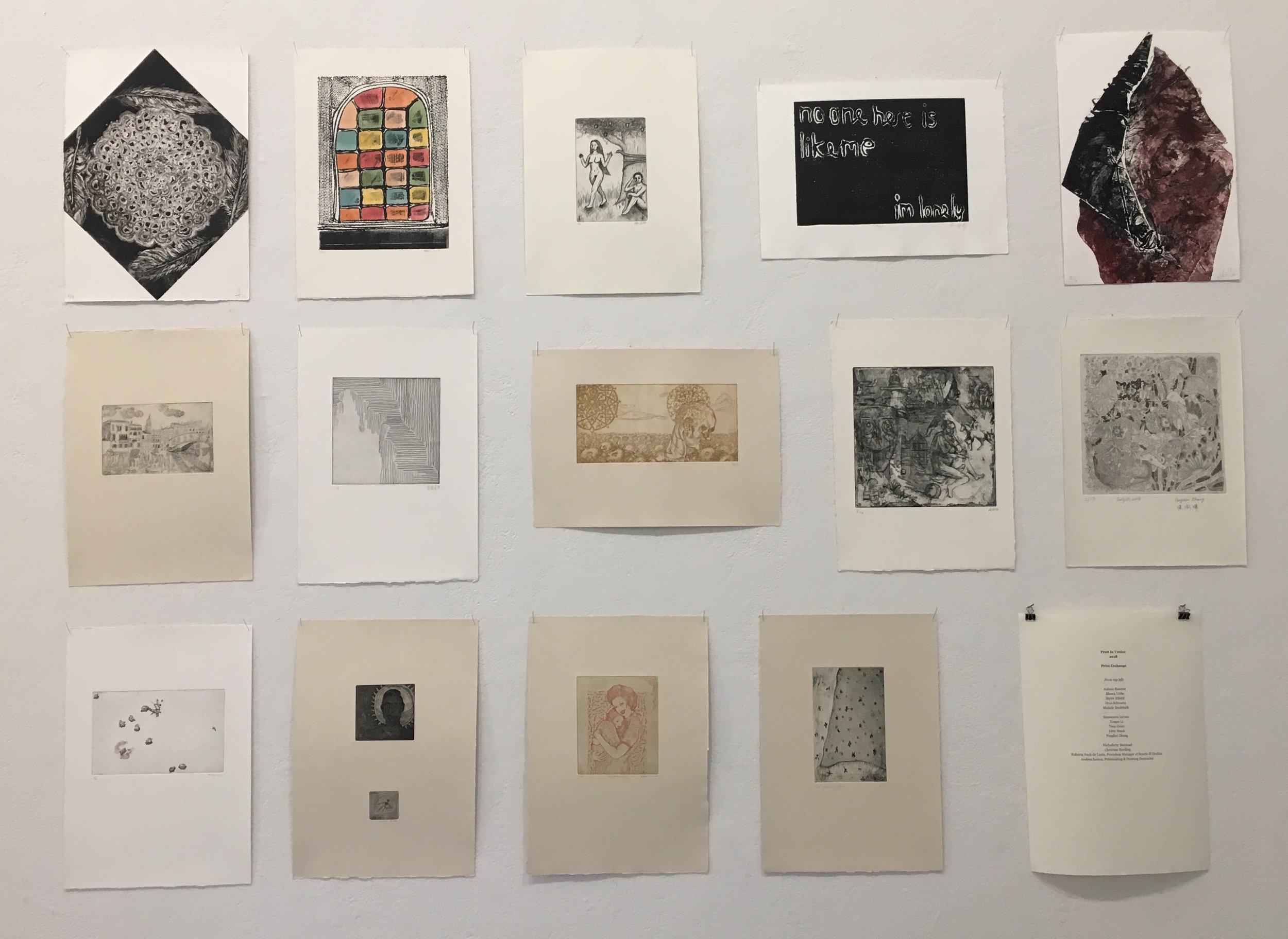Pratt in Venice 2018 Print Exchange