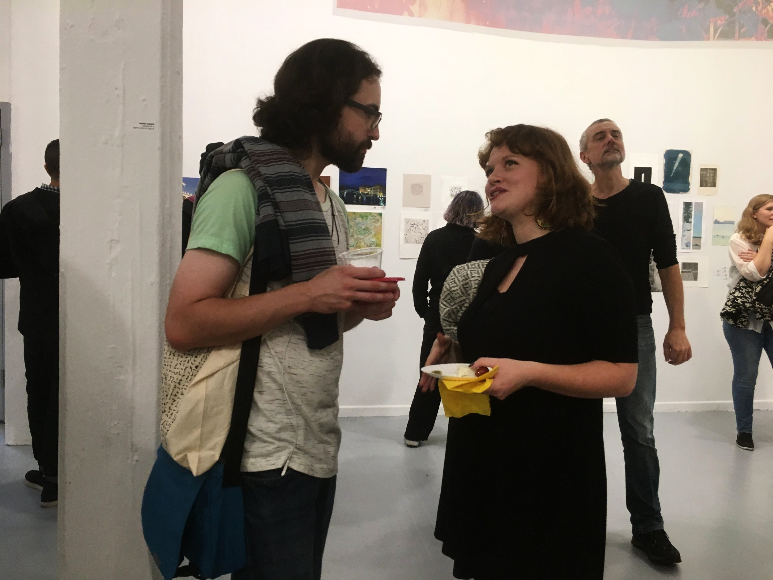 Nick LaPole (MFA Printmaking; PIV 2017) and Marietta Burdick (BA Art History; PIV 2017)
