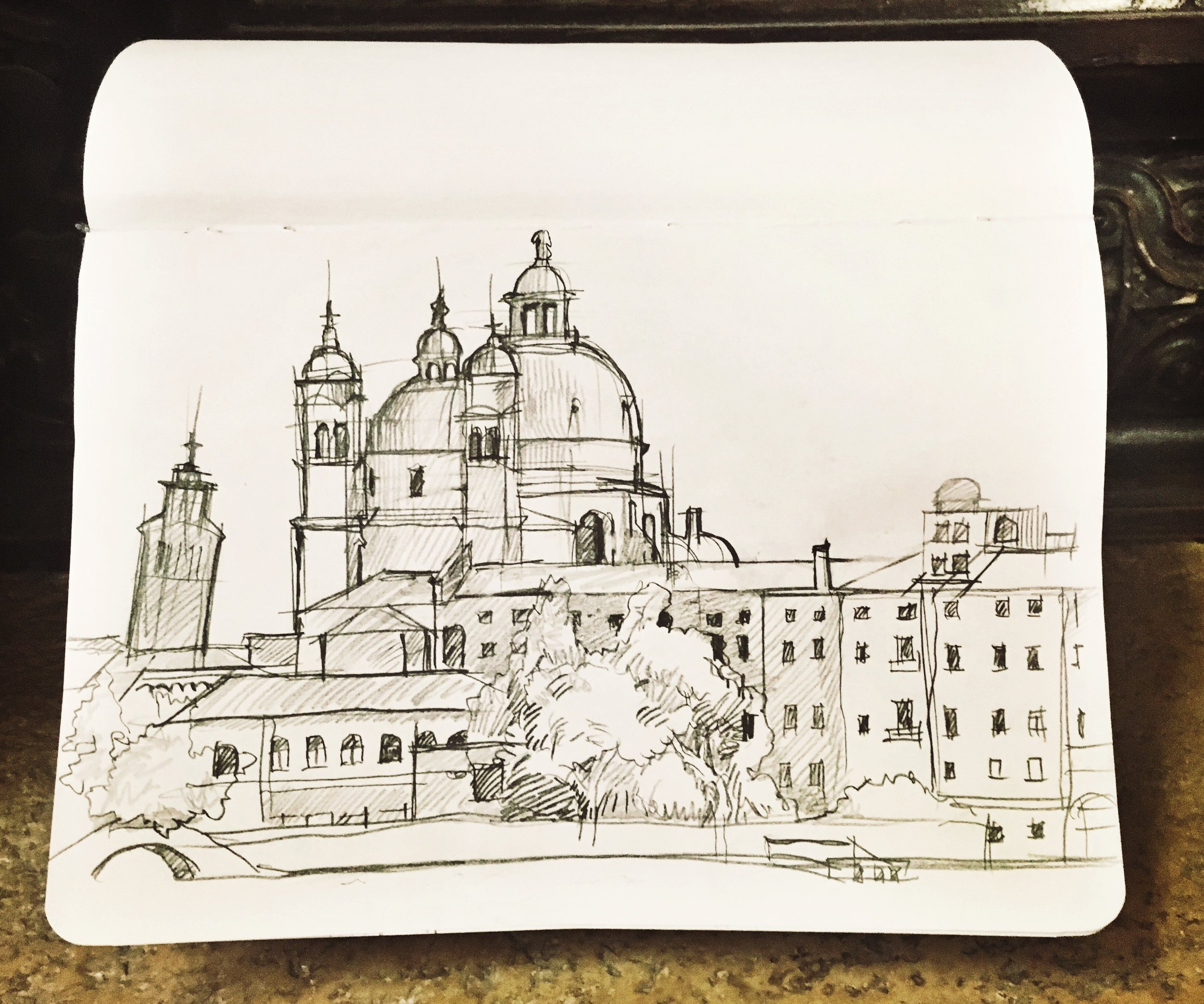 A casual sketch of San Marco by Penghui Zhang, which we used for our annual exhibition's poster design!
